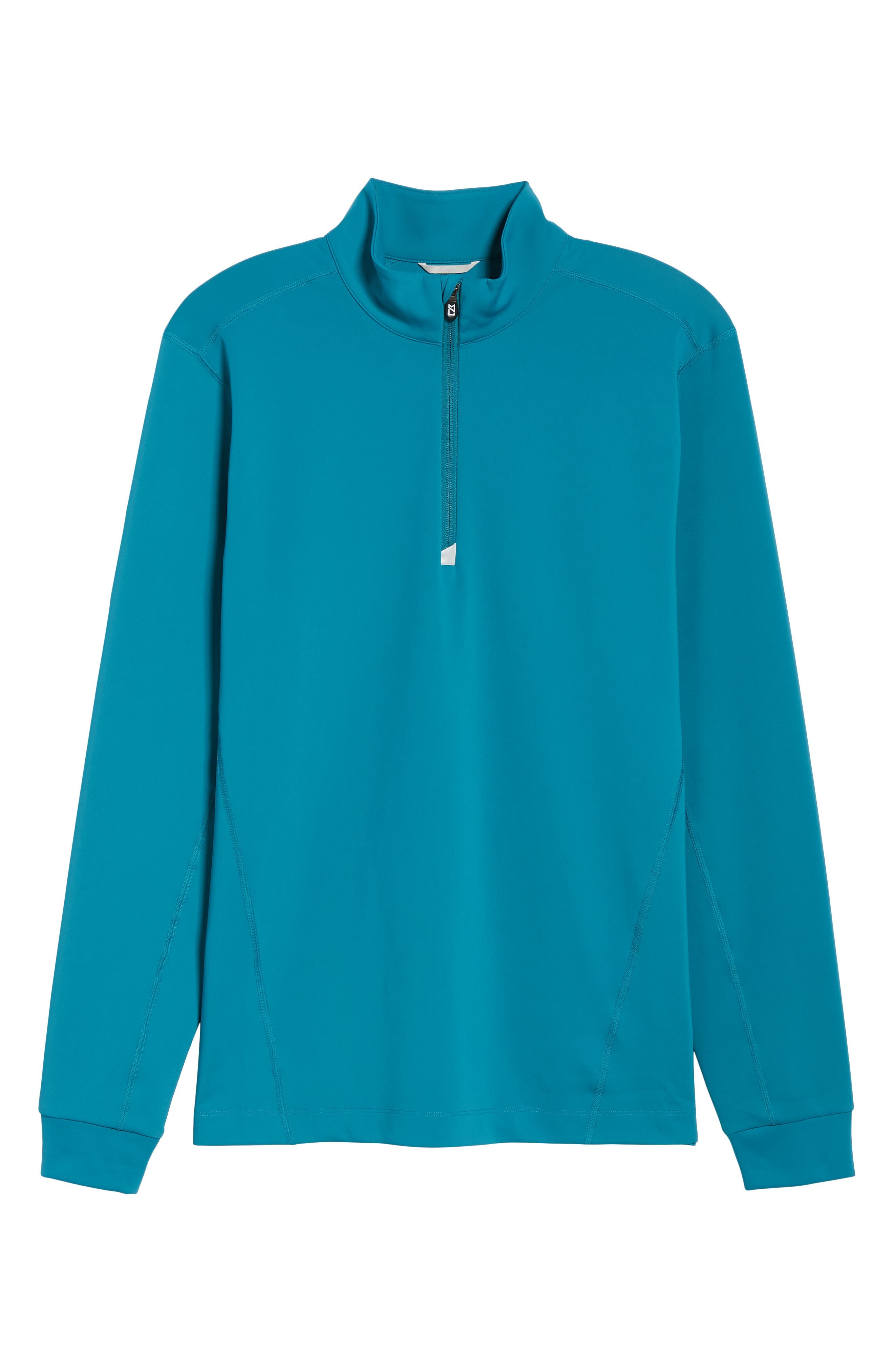 Traverse Regular Fit Quarter Zip Pullover,                             Alternate thumbnail 6, color,                             TEAL BLUE