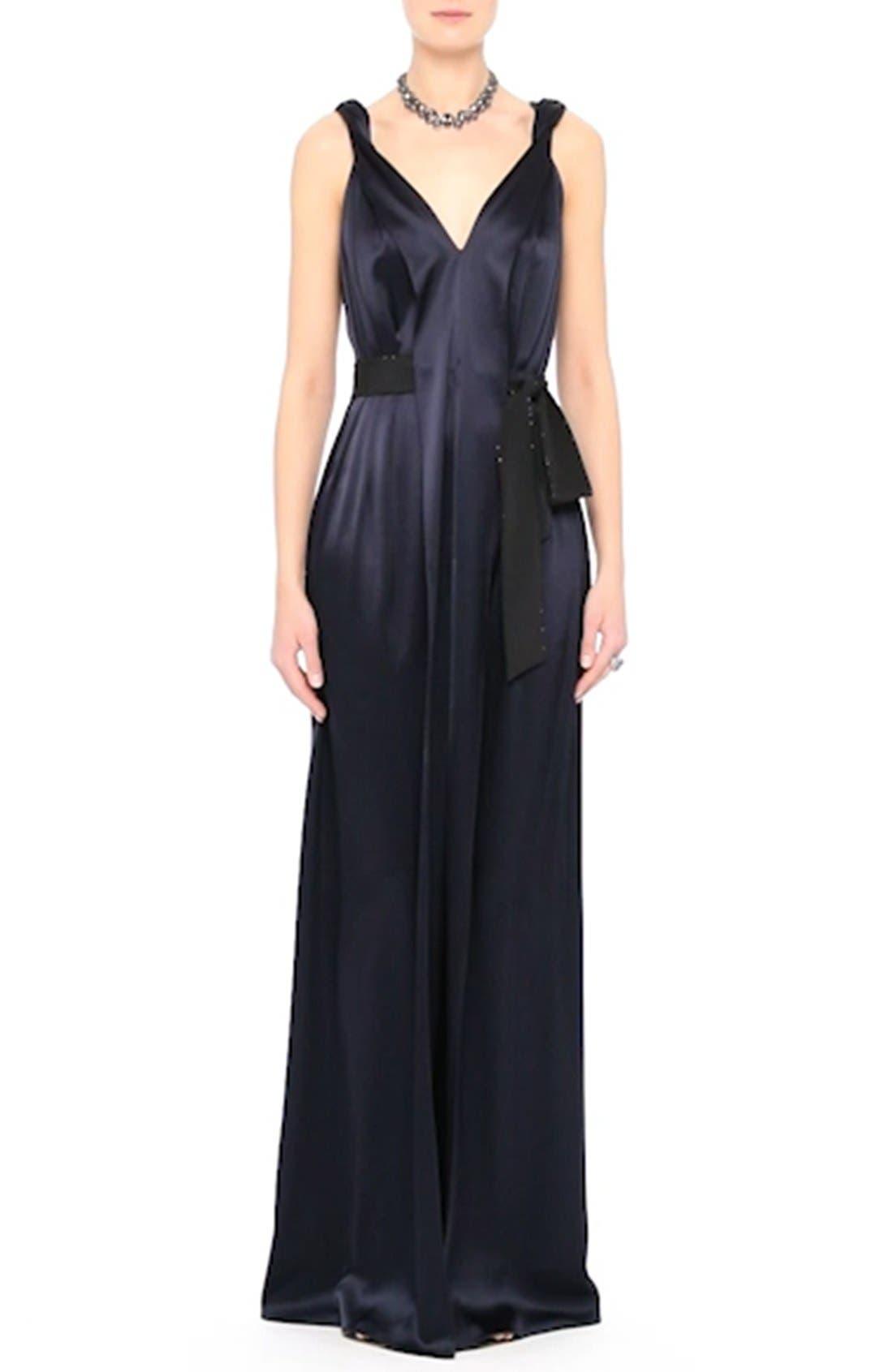 Liquid Satin Gown,                             Alternate thumbnail 7, color,