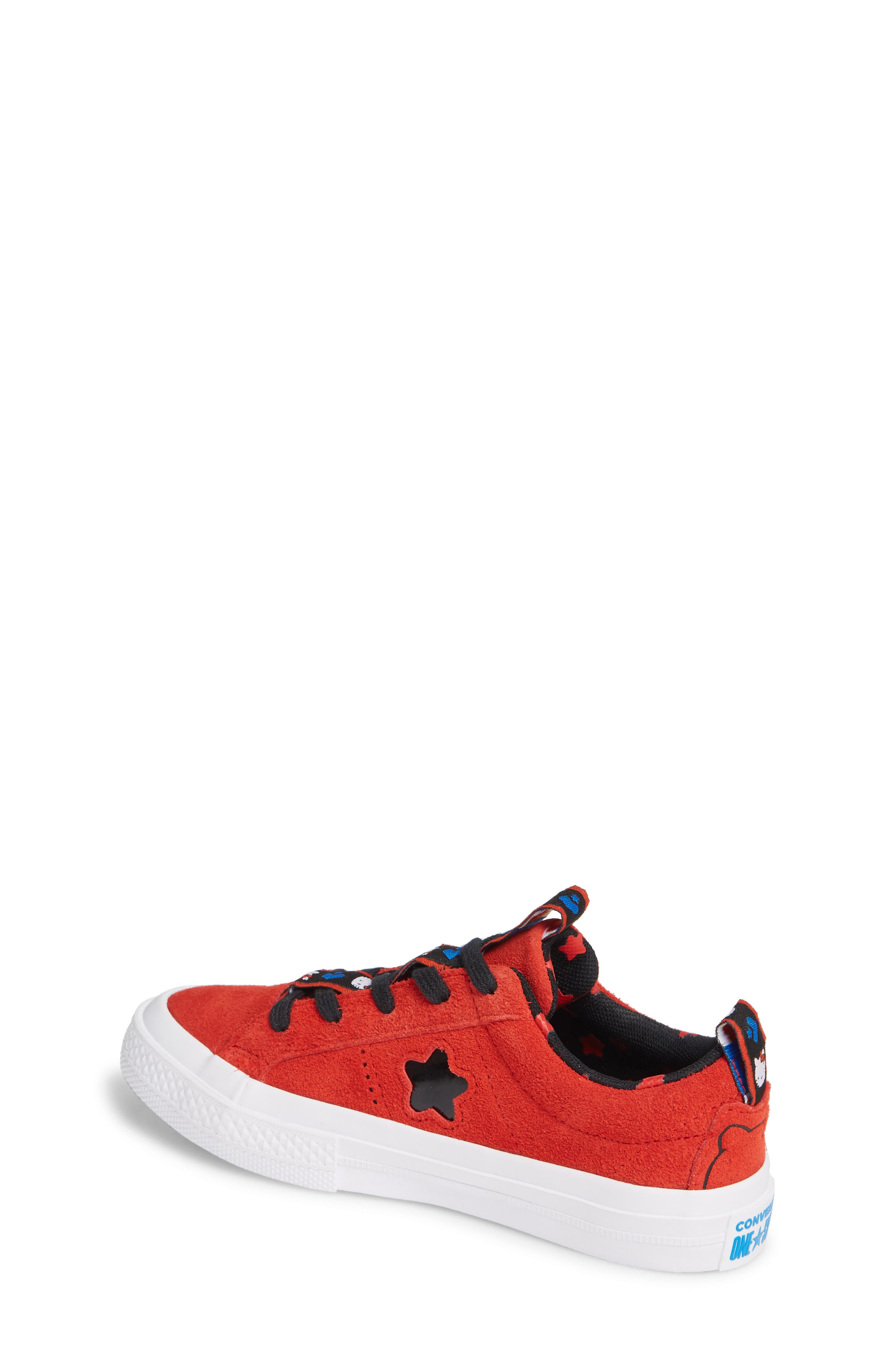 x Hello Kitty<sup>®</sup> One Star Low Top Sneaker,                             Alternate thumbnail 2, color,                             FIERY RED SUEDE