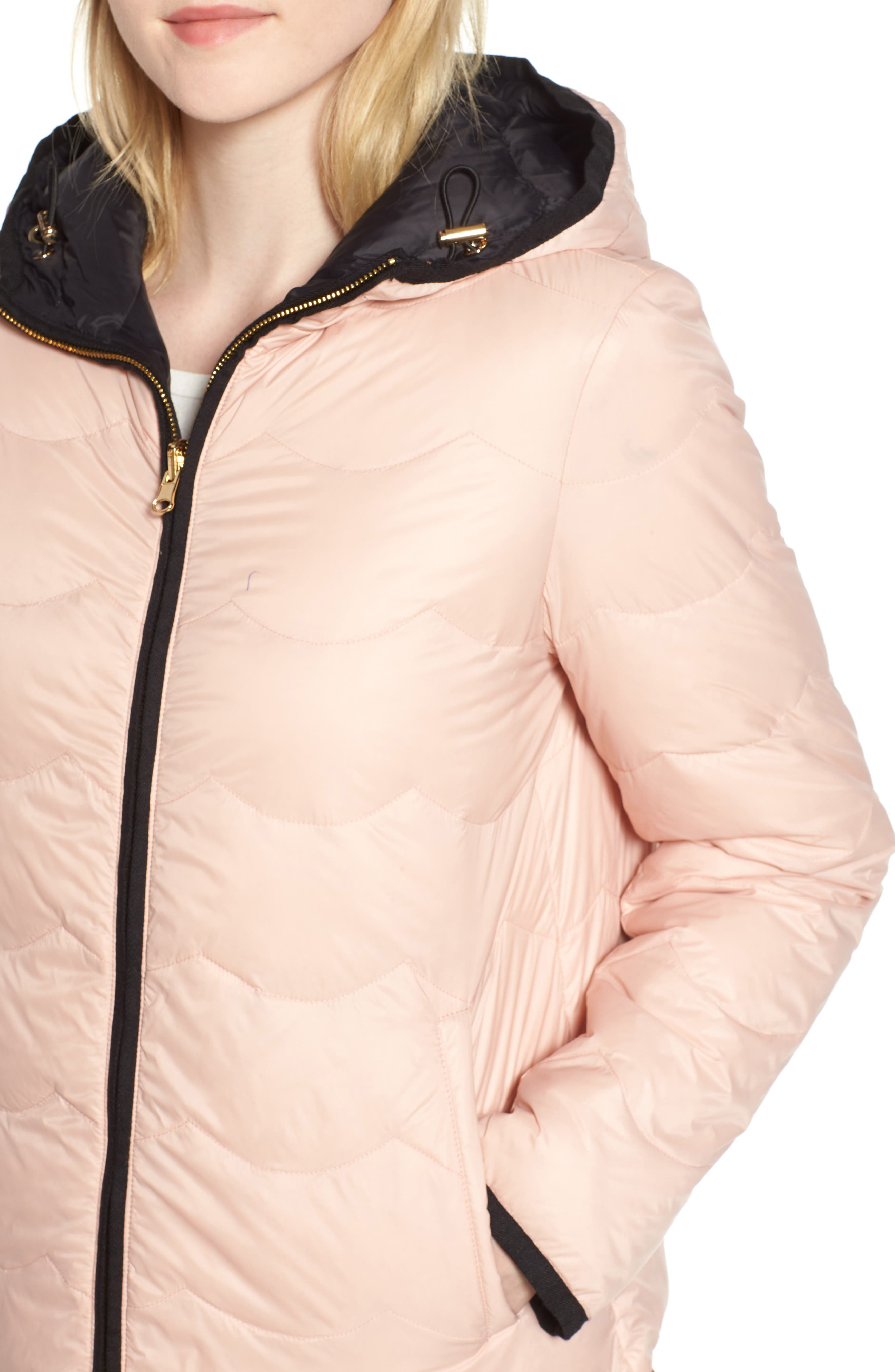 reversible quilted down jacket,                             Alternate thumbnail 6, color,                             001