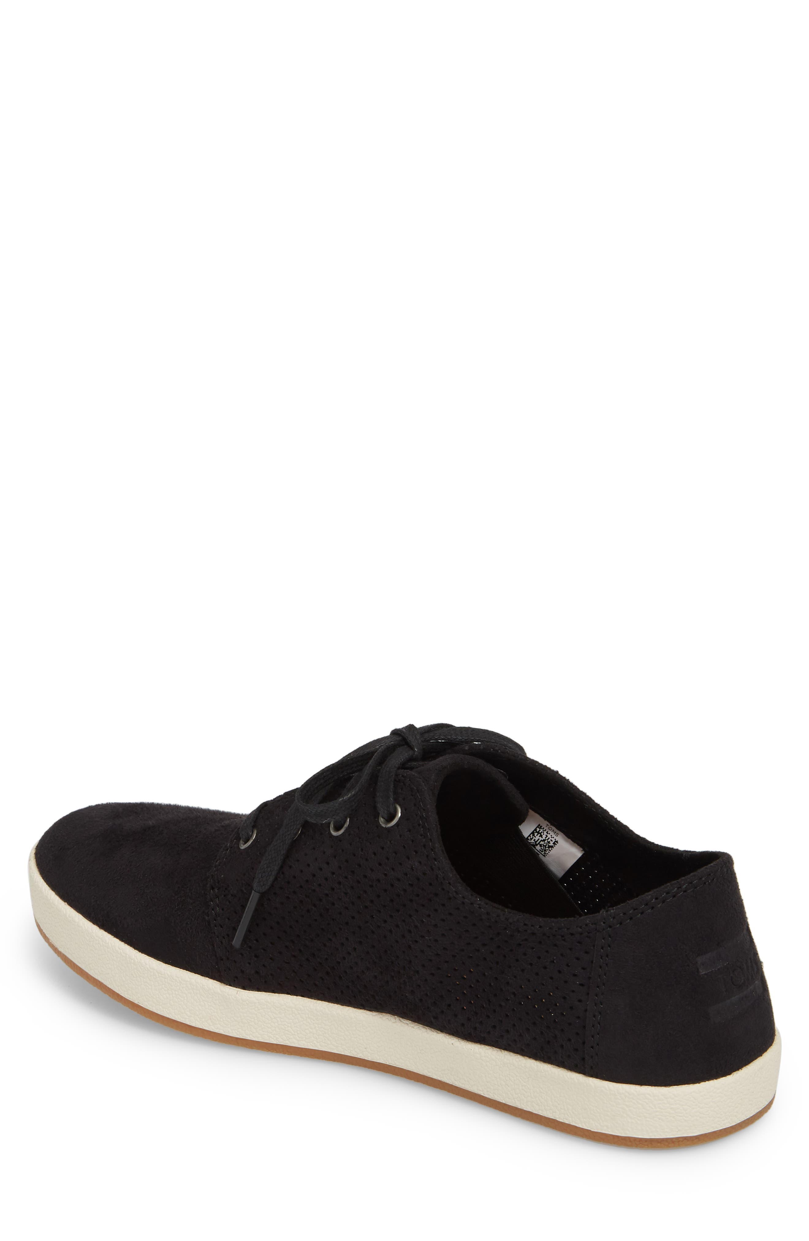 TOMS,                             Payton Perforated Sneaker,                             Alternate thumbnail 2, color,                             001