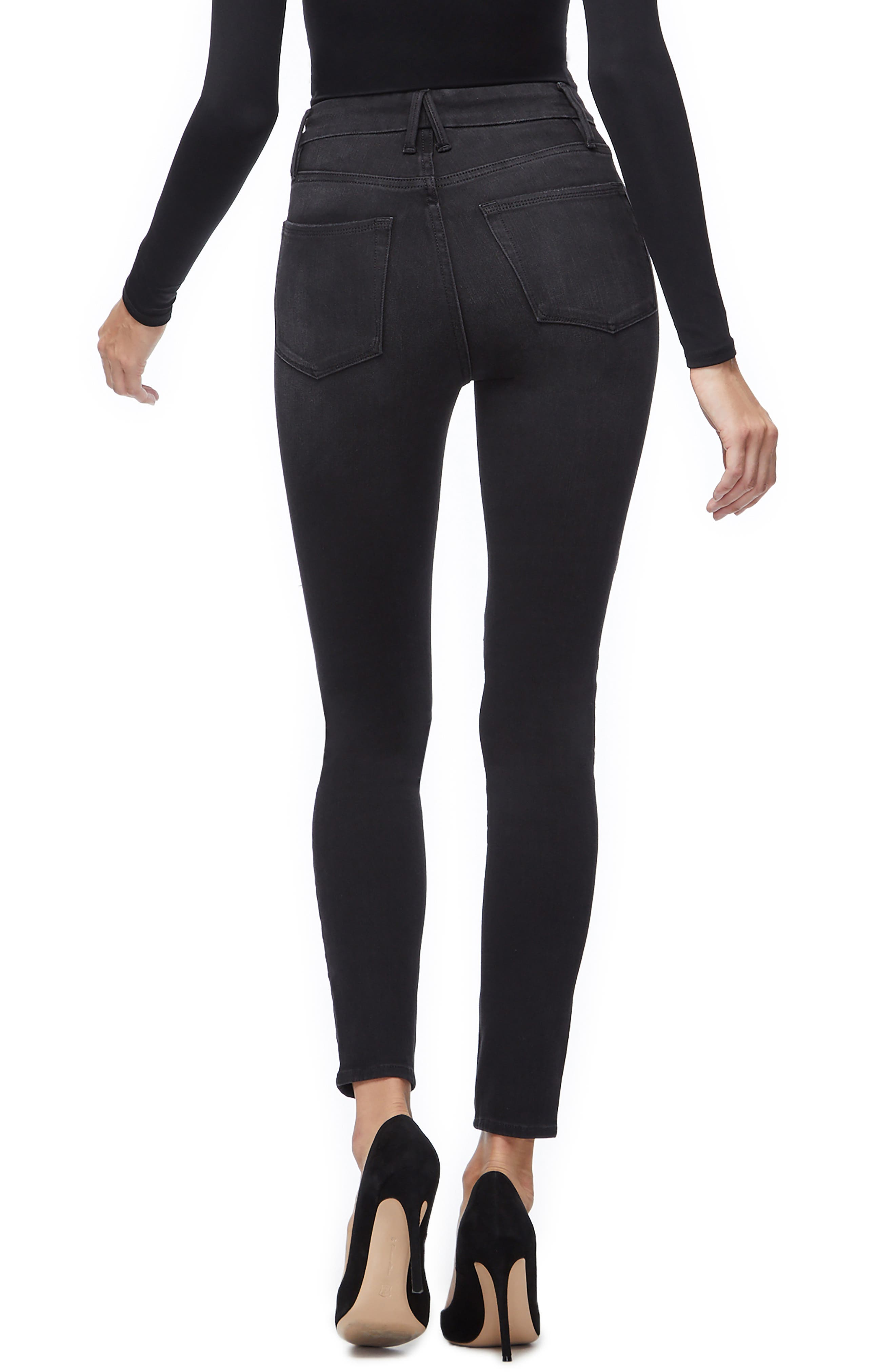 Good Waist Corded High Waist Skinny Jeans,                             Alternate thumbnail 2, color,                             BLACK040