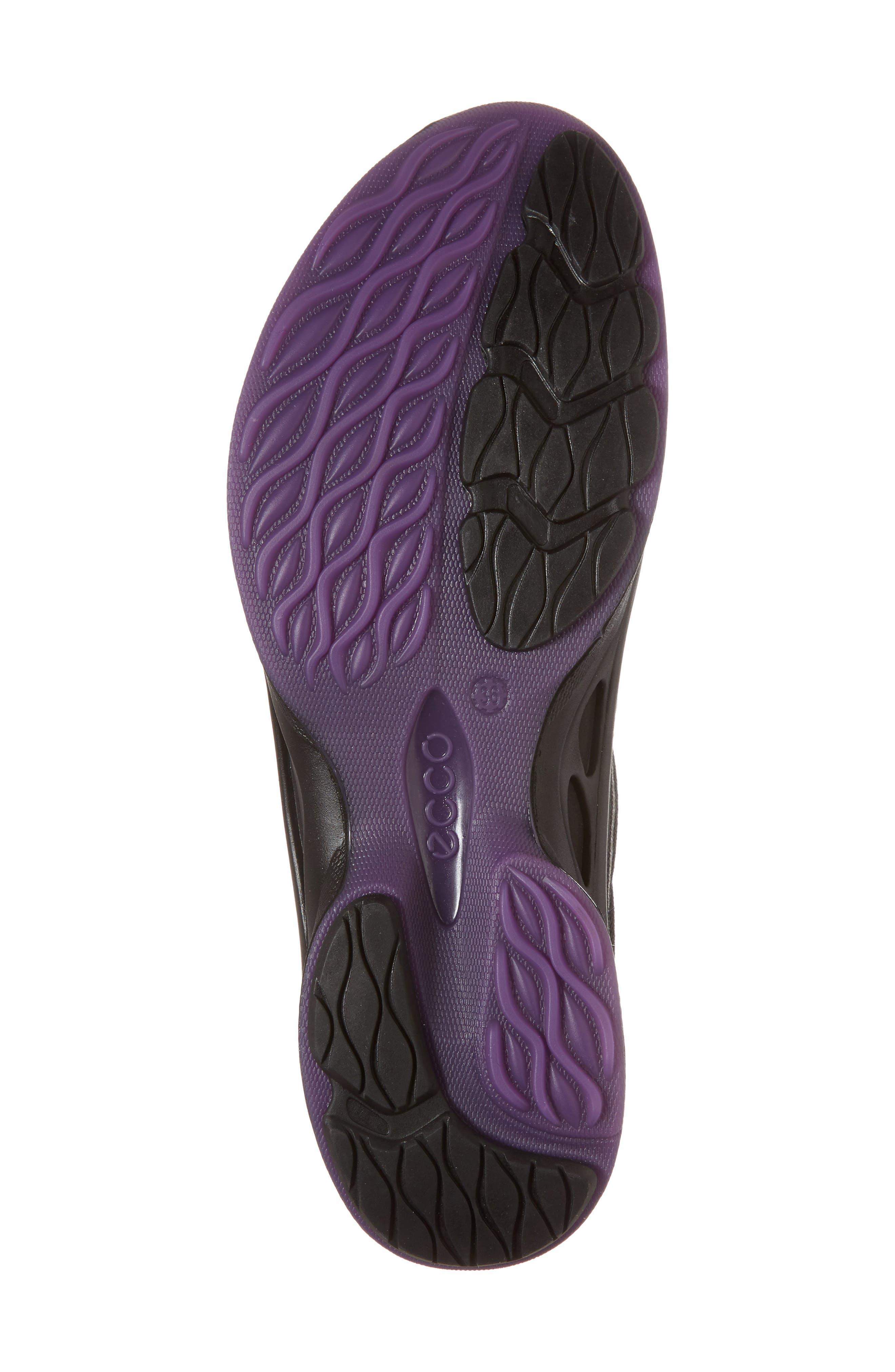 BIOM Fjuel Tie Sneaker,                             Alternate thumbnail 6, color,                             BLACK FABRIC