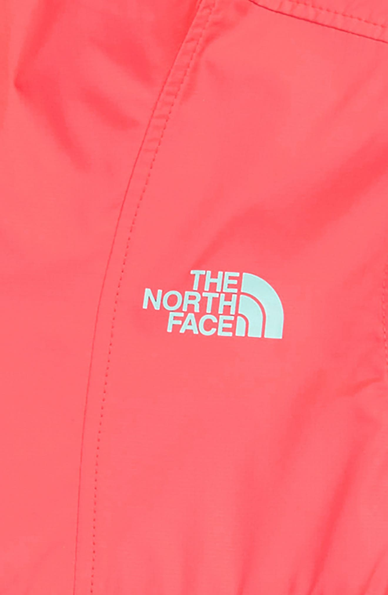 THE NORTH FACE,                             Wind & Water Resistant Hooded Fanorak,                             Alternate thumbnail 3, color,                             BLUE WING TEAL