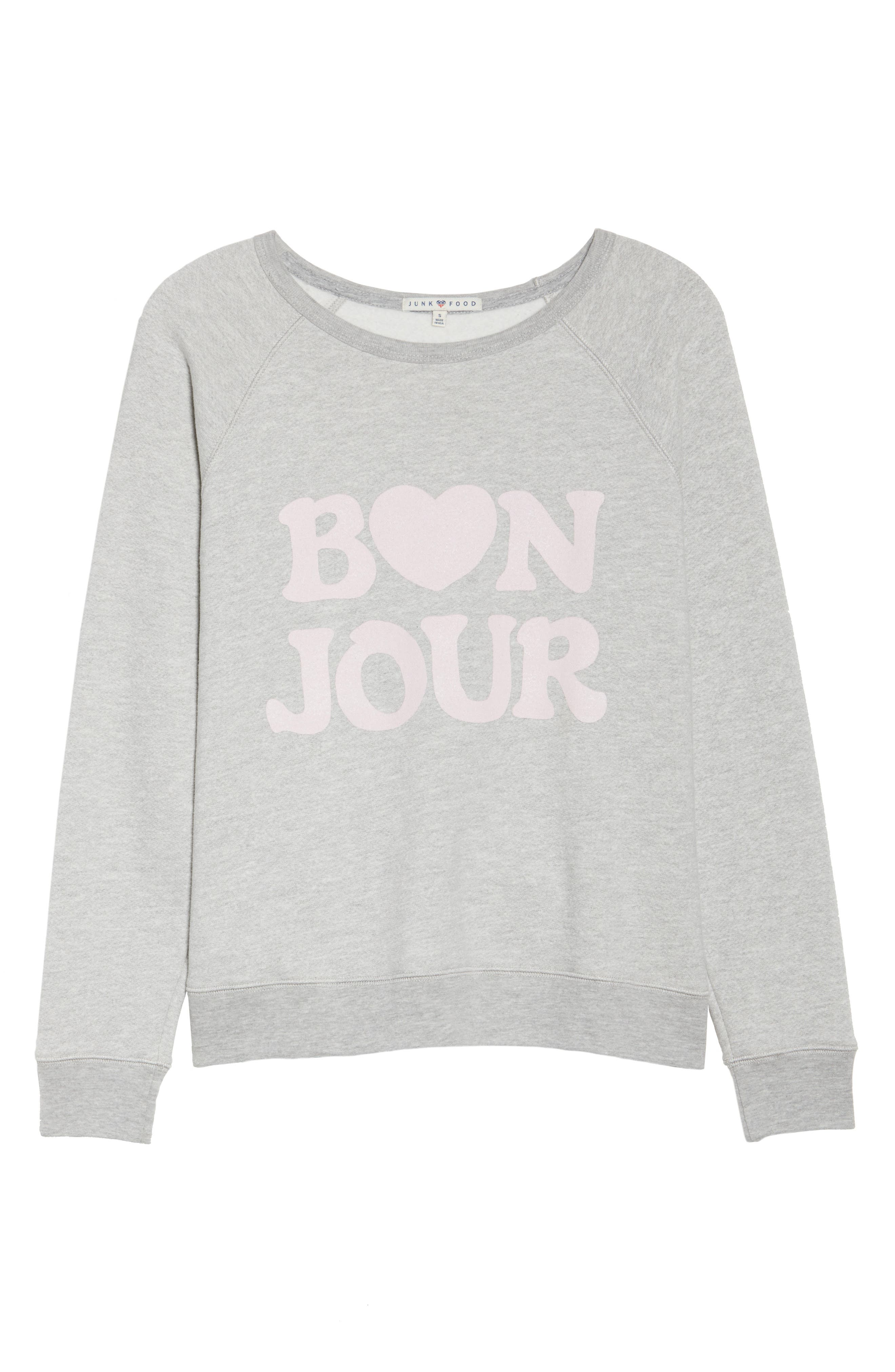 Bon Jour Sweatshirt,                             Alternate thumbnail 6, color,                             028
