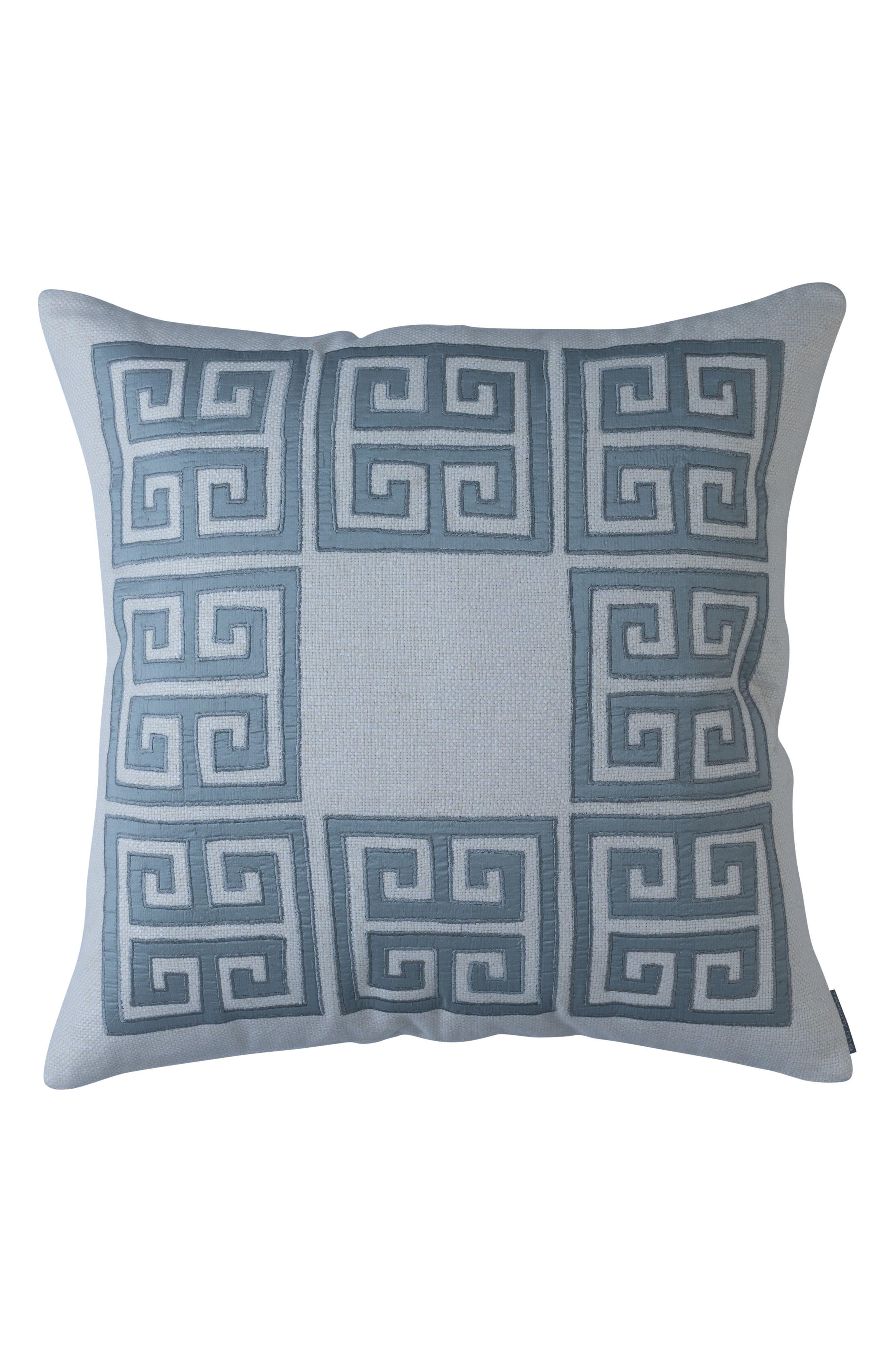 Guy Silk Basket Weave Square Accent Pillow,                             Main thumbnail 1, color,                             400