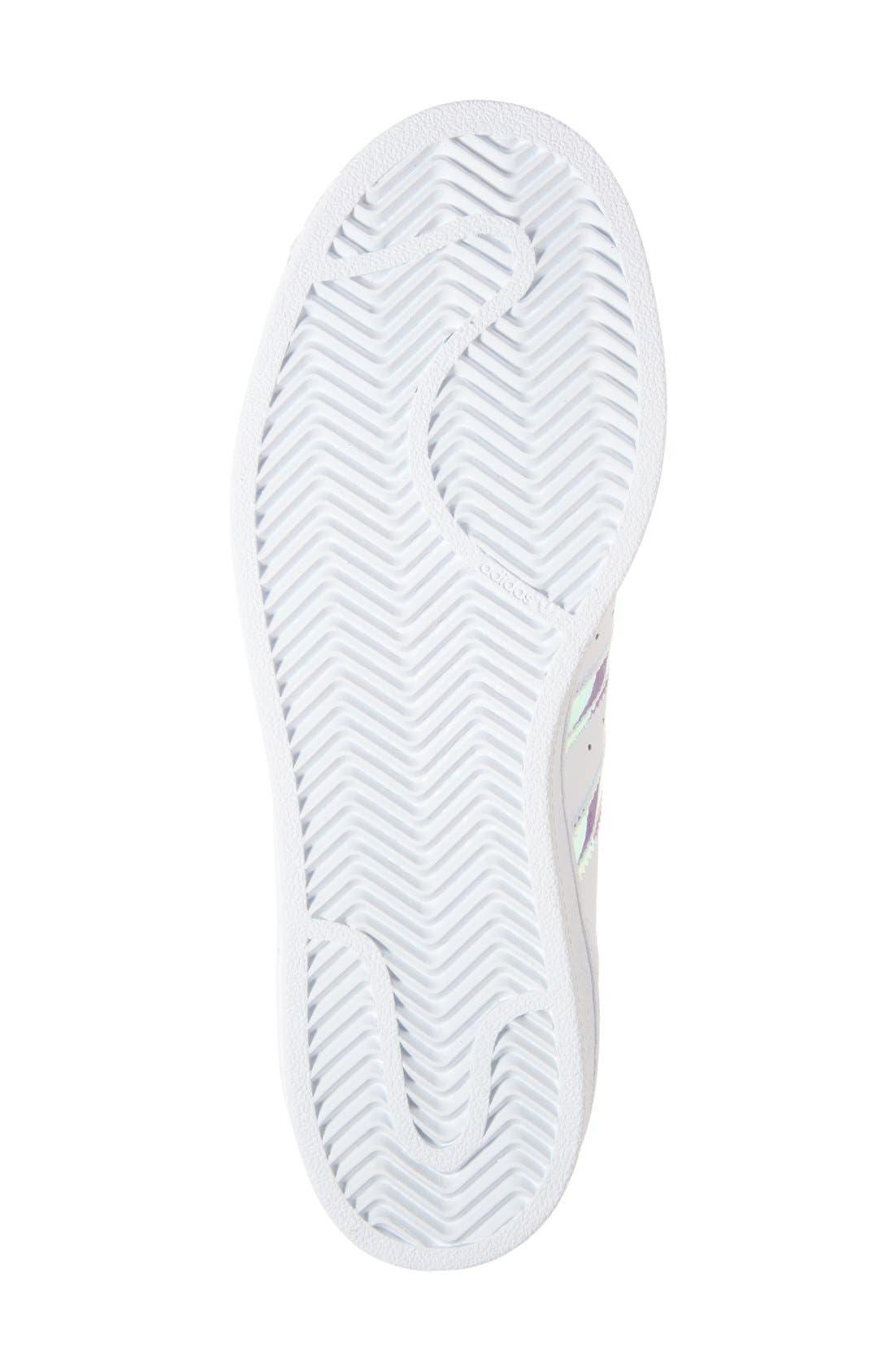 Superstar - Iridescent Sneaker,                             Alternate thumbnail 11, color,                             SILVER METALLIC/ WHITE