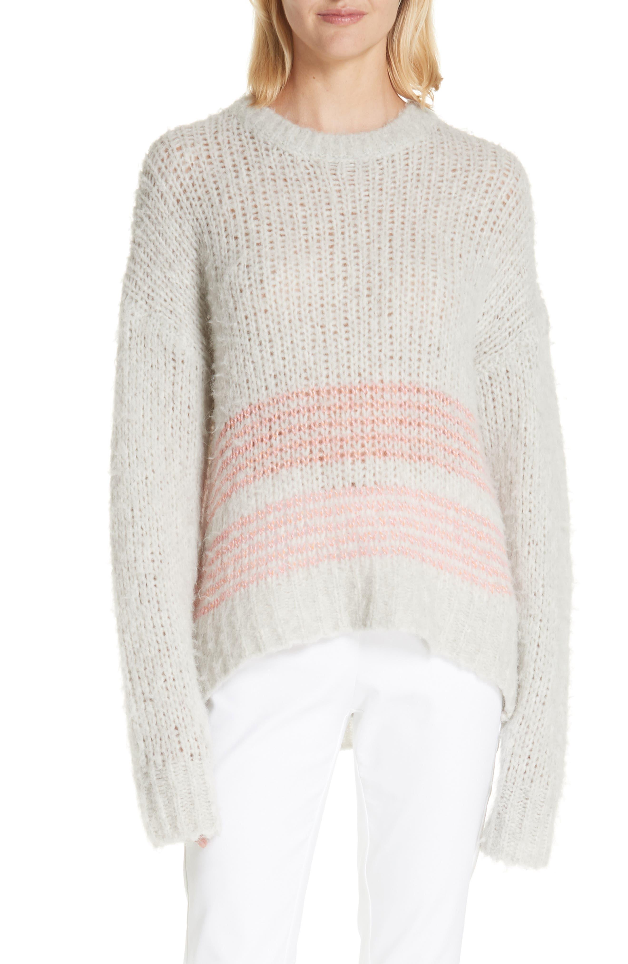 Rag & Bone Iceland Wool Blend Sweater, Grey