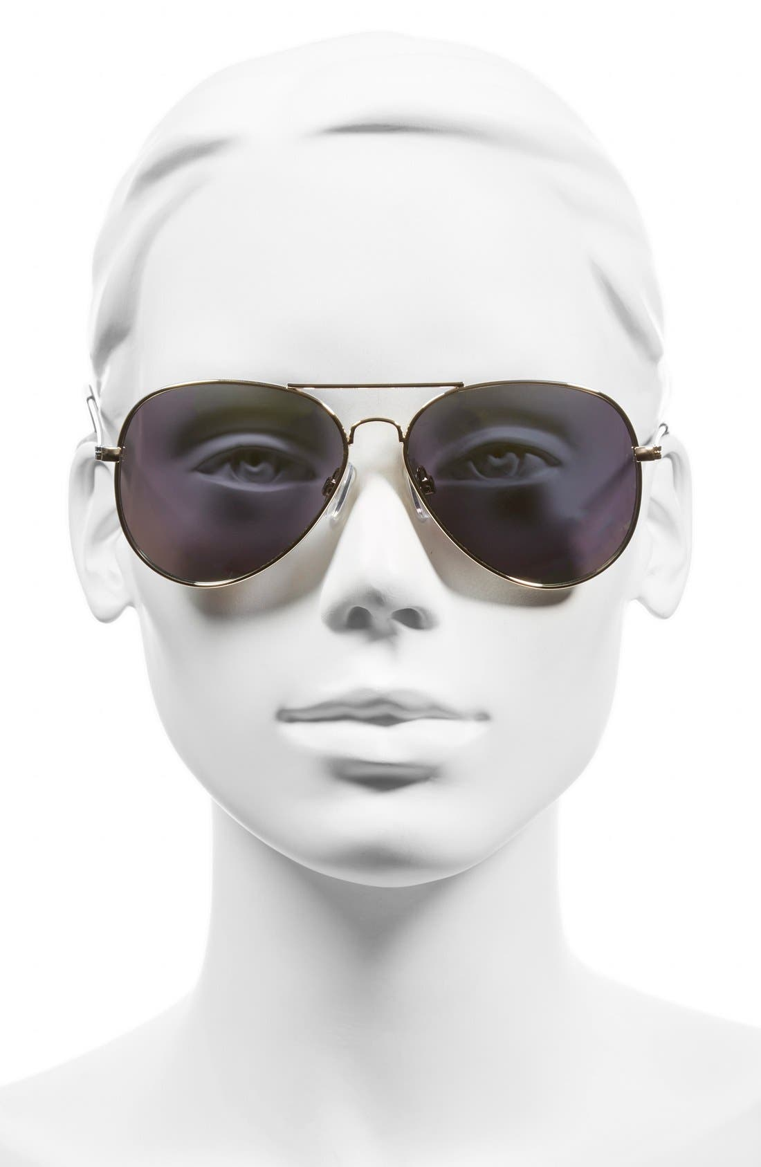 Mirrored Aviator 57mm Sunglasses,                             Alternate thumbnail 29, color,