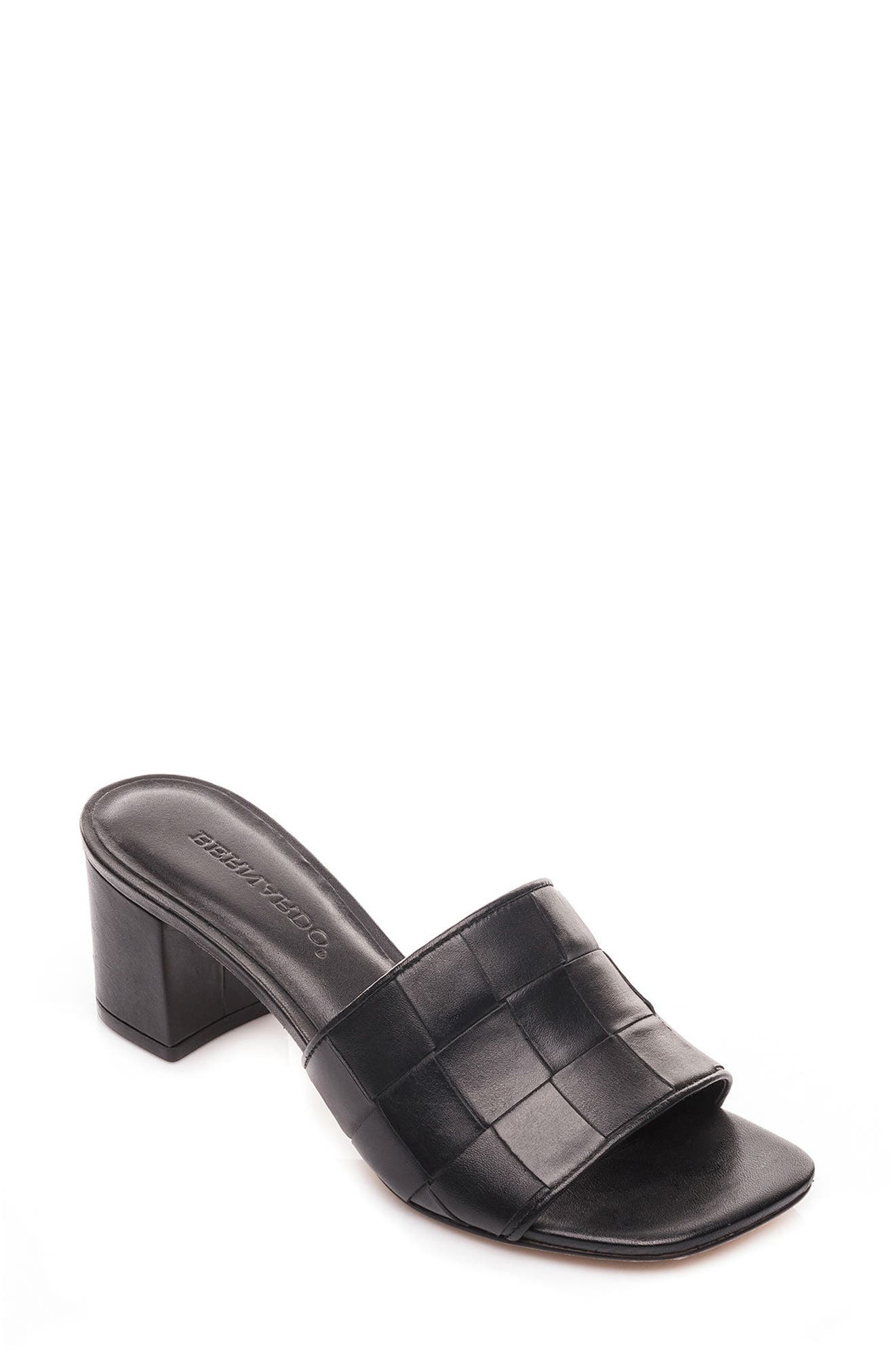 Bernardo Bridget Block Heel Sandal,                             Main thumbnail 1, color,                             001