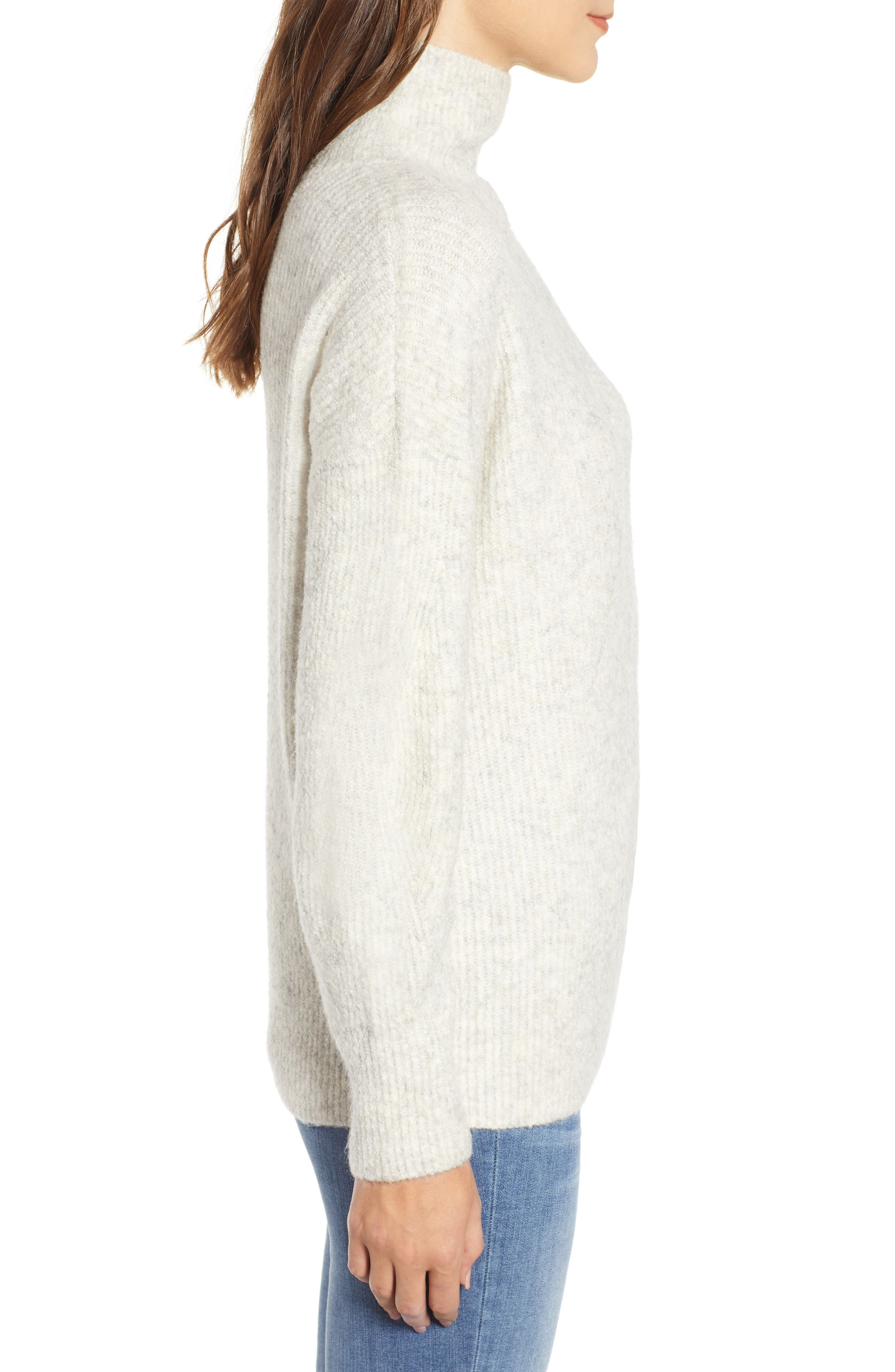 Urban Flossy Cowl Neck Sweater,                             Alternate thumbnail 3, color,                             OATMEAL