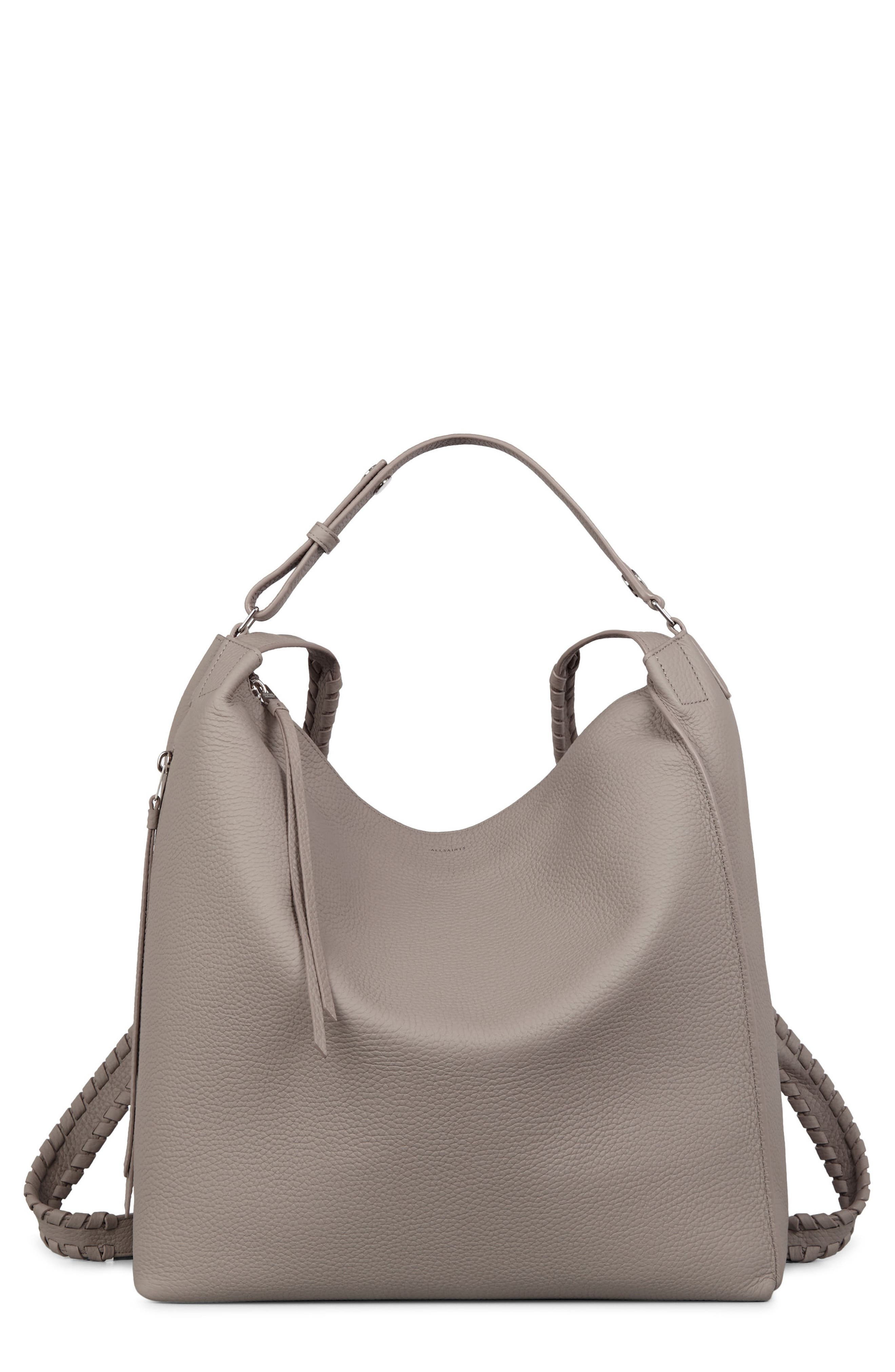 Kita Convertible Leather Backpack,                             Main thumbnail 1, color,                             TAUPE GREY
