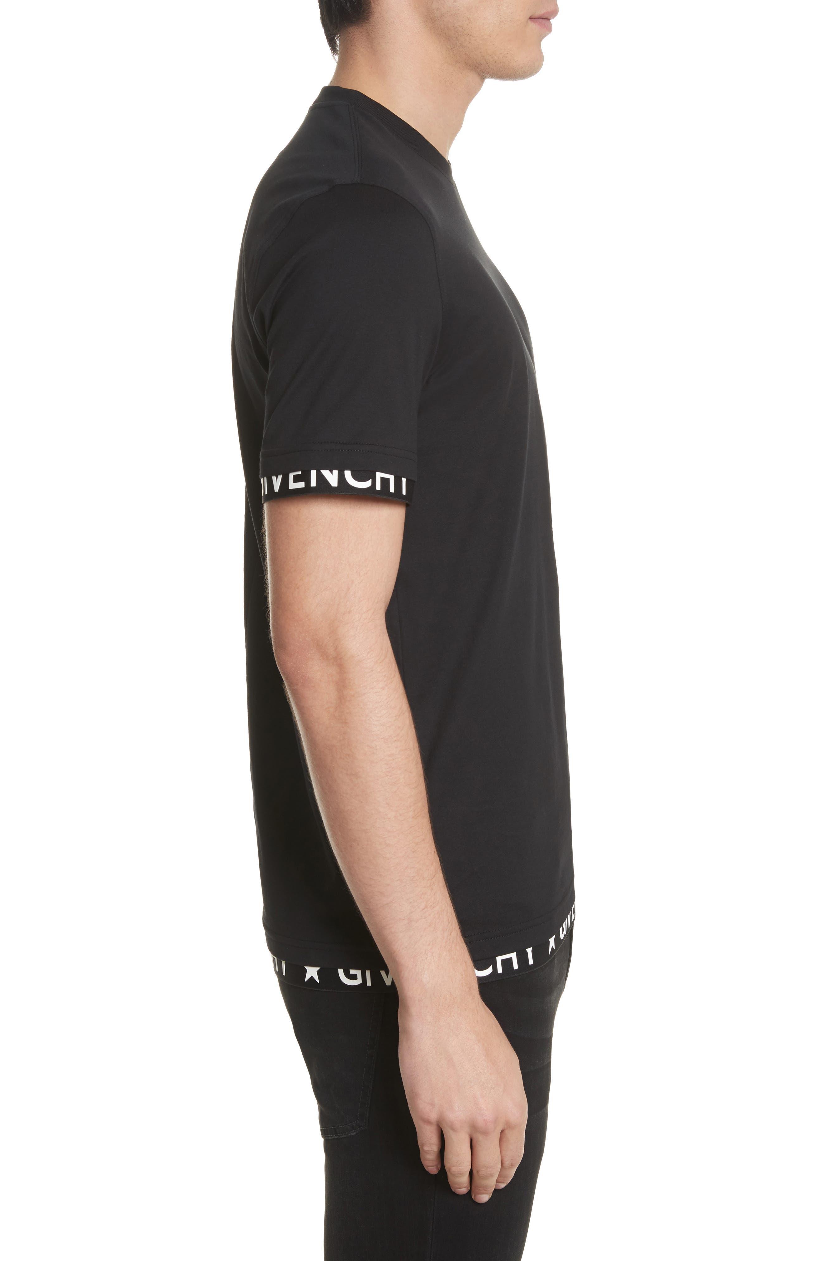 Half Band Crewneck T-Shirt,                             Alternate thumbnail 3, color,                             001