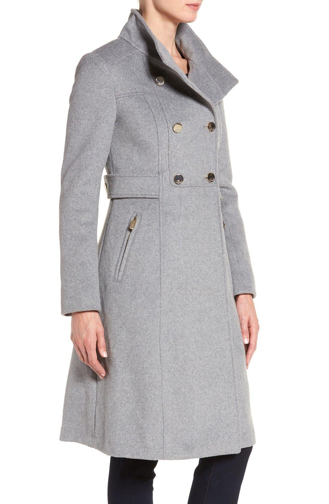 Wool Blend Long Military Coat,                             Alternate thumbnail 12, color,