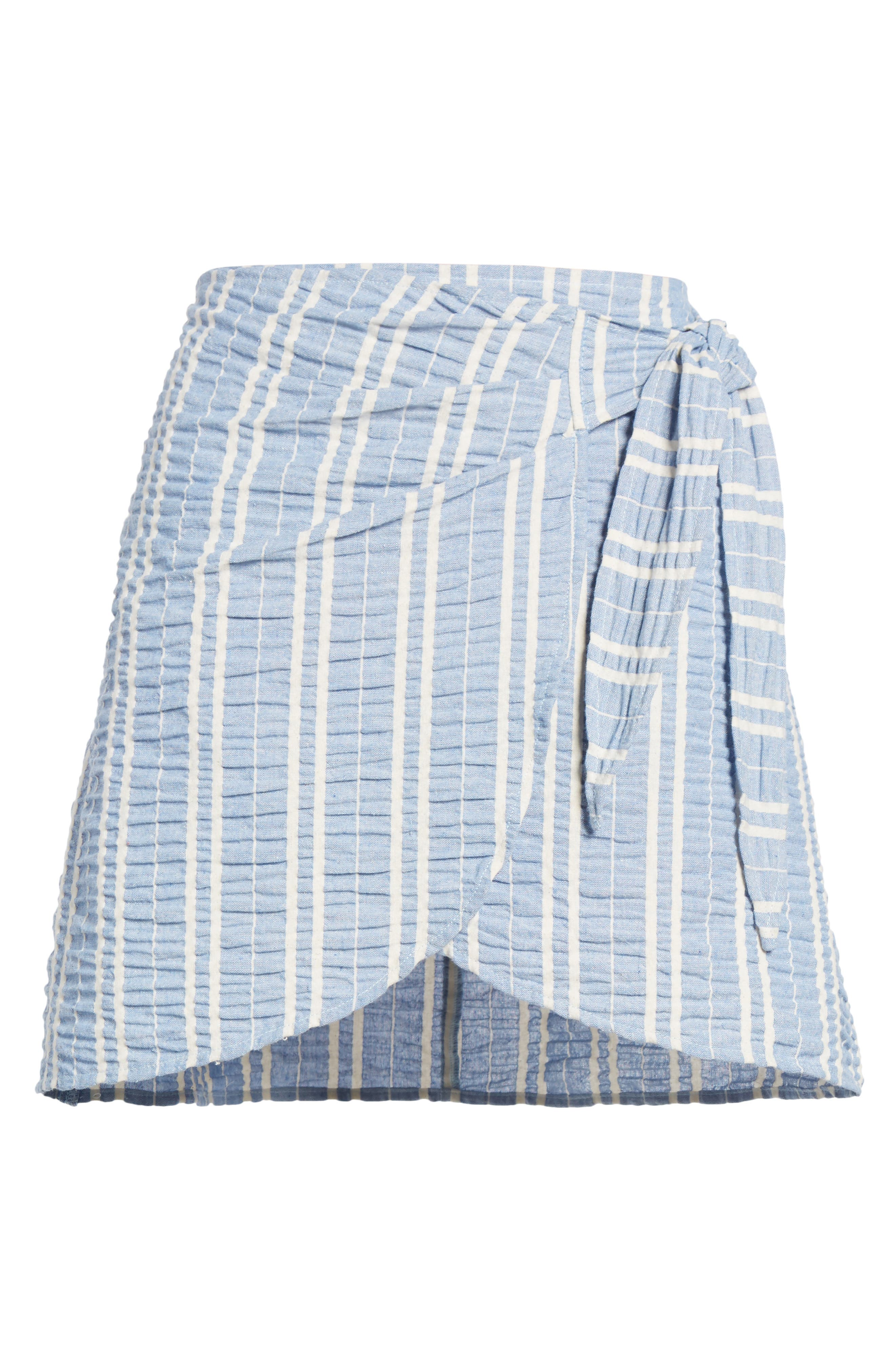 LOST + WANDER,                             Waves Wrap Front Skirt,                             Alternate thumbnail 6, color,                             466