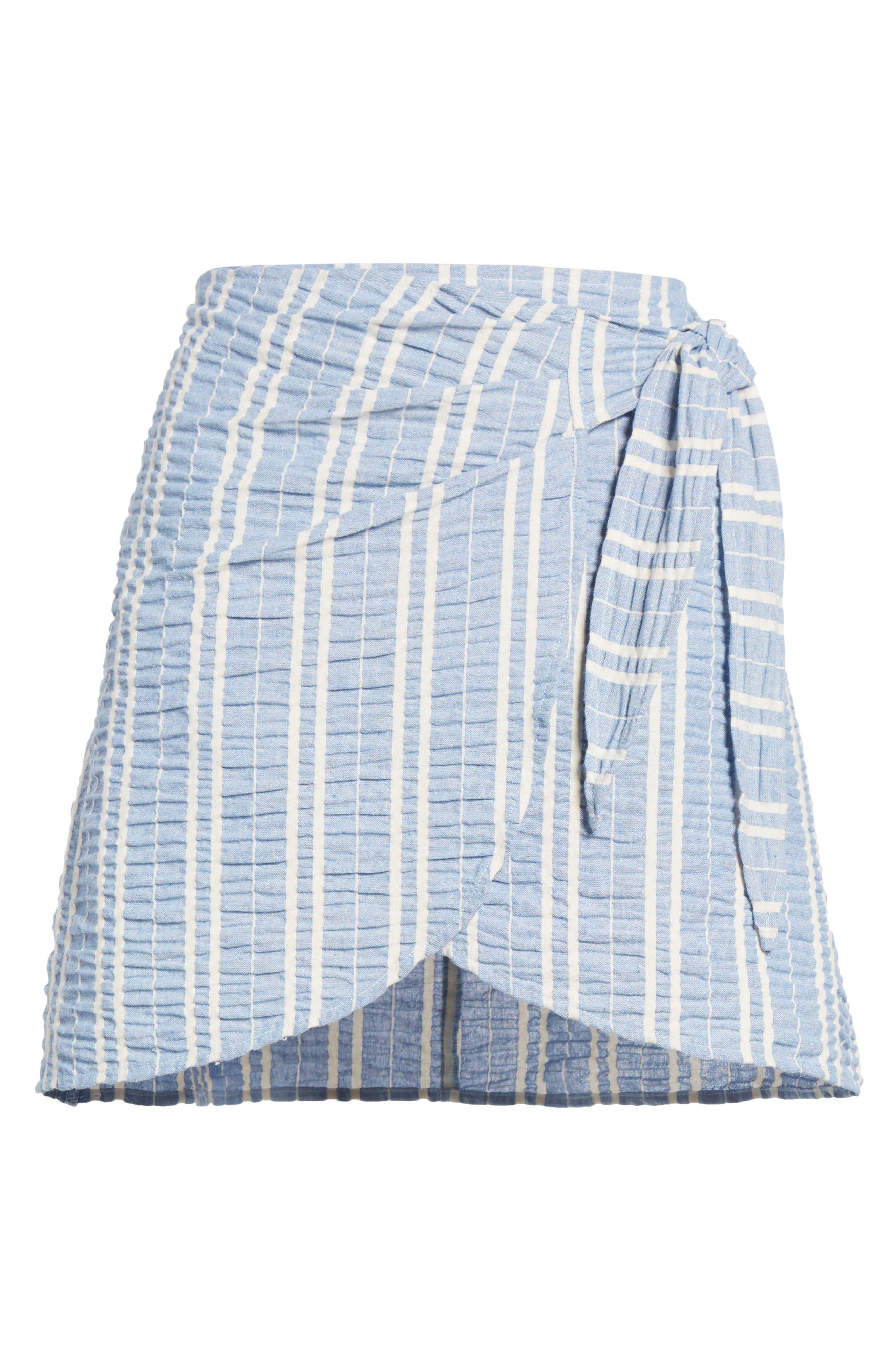 Waves Wrap Front Skirt,                             Alternate thumbnail 6, color,