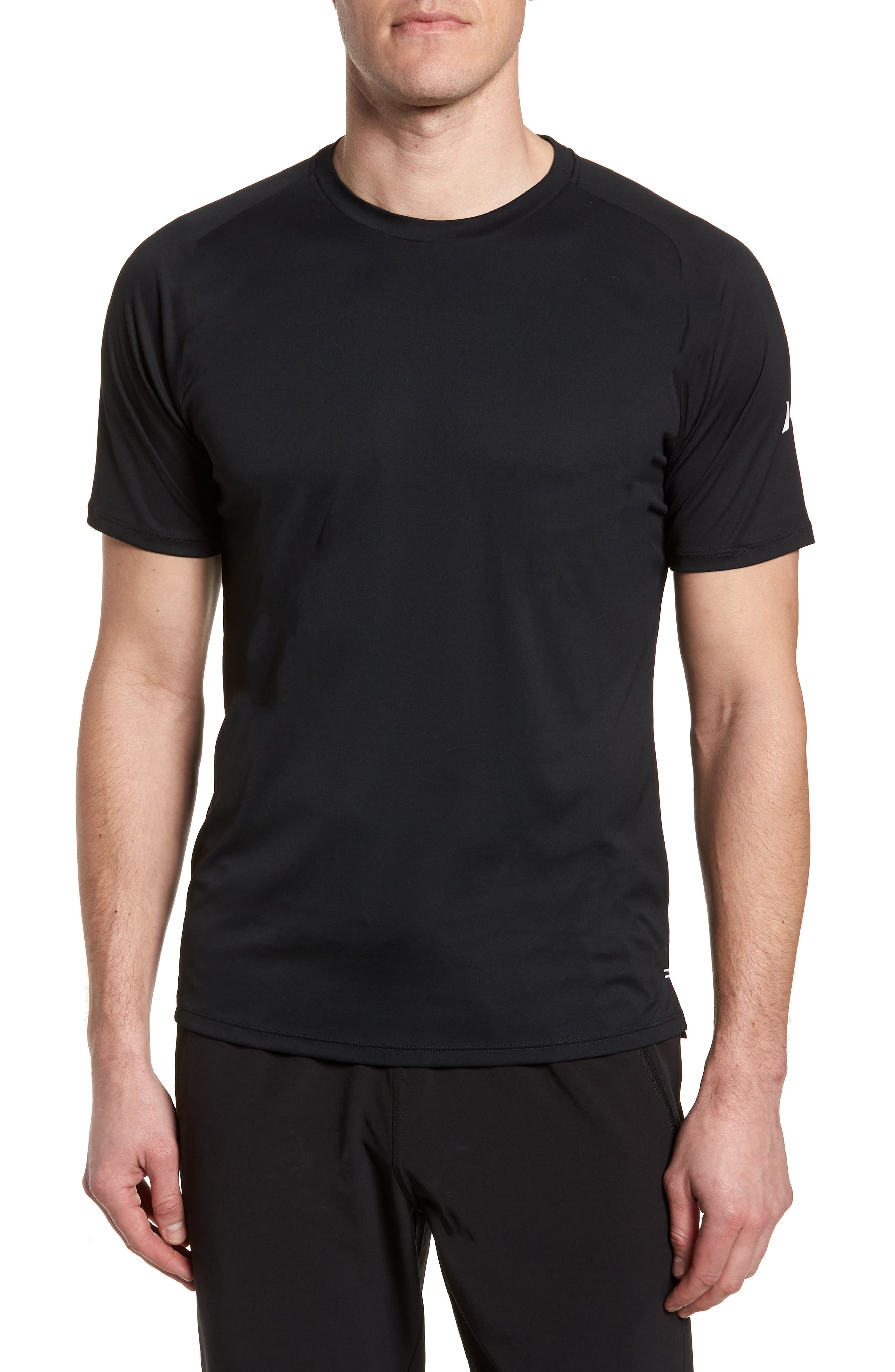 HURLEY,                             Icon Quick-Dry Surf T-Shirt,                             Main thumbnail 1, color,                             010
