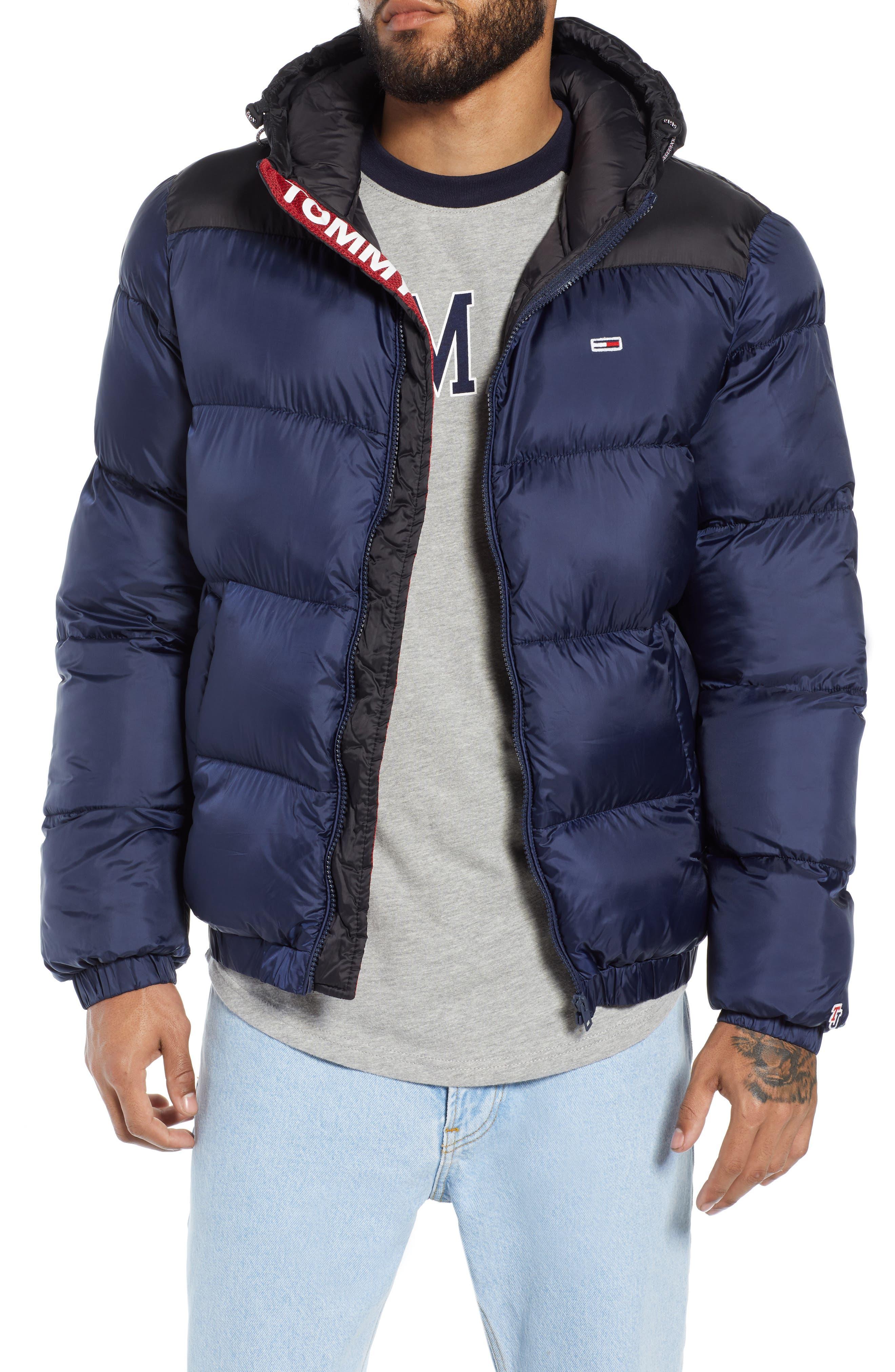 Classics Hooded Jacket,                         Main,                         color, BLACK IRIS / TOMMY BLACK