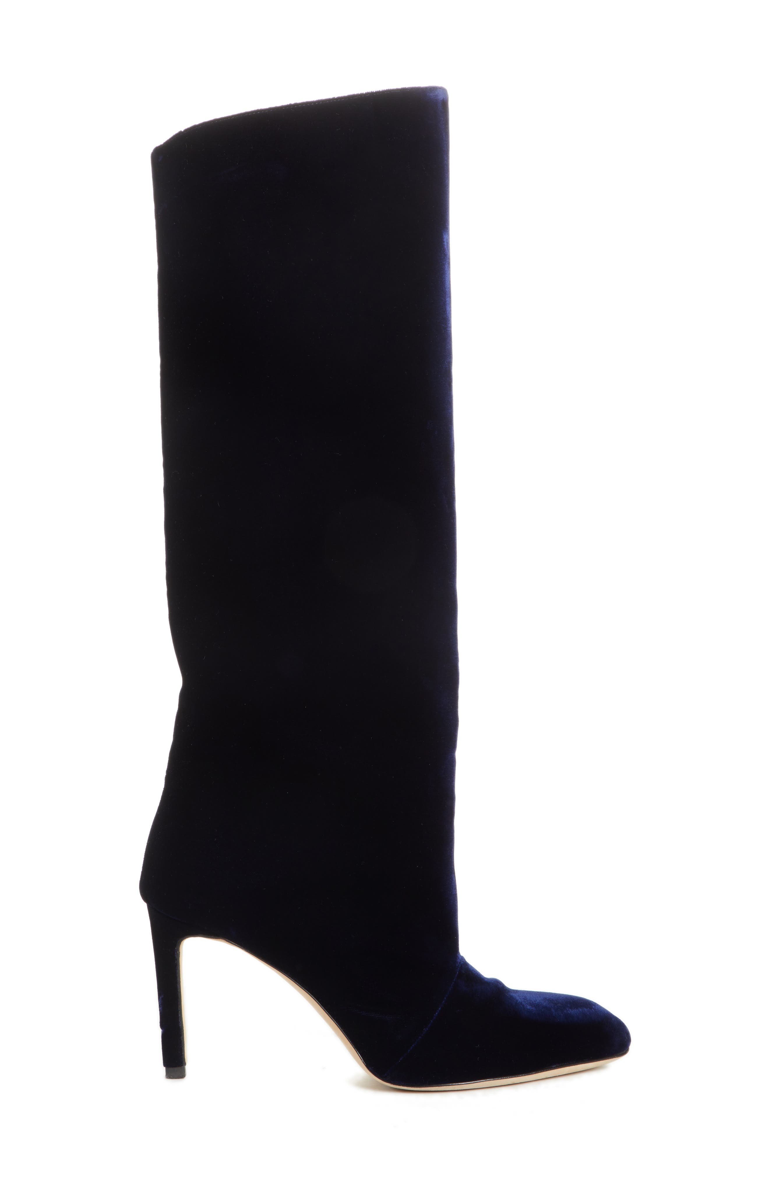 Knee High Velvet Boot,                             Alternate thumbnail 3, color,                             NAVY