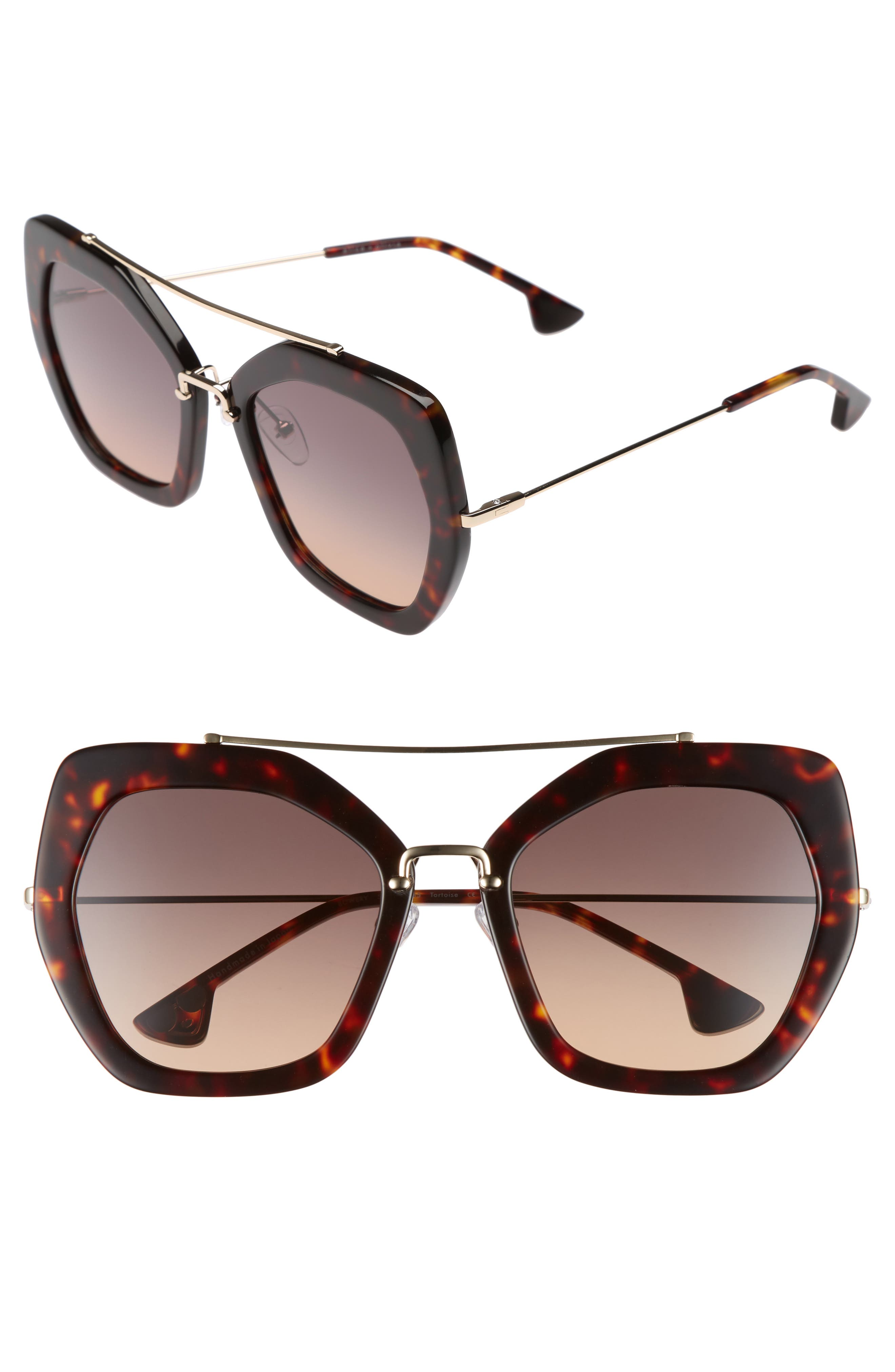 Bowery 55mm Geometric Sunglasses,                         Main,                         color, 200
