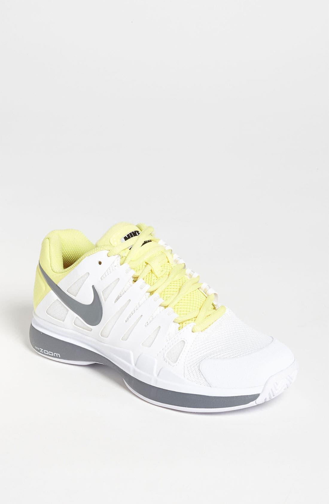 NIKE,                             'Zoom Vapor 9 Tour' Tennis Shoe,                             Main thumbnail 1, color,                             107