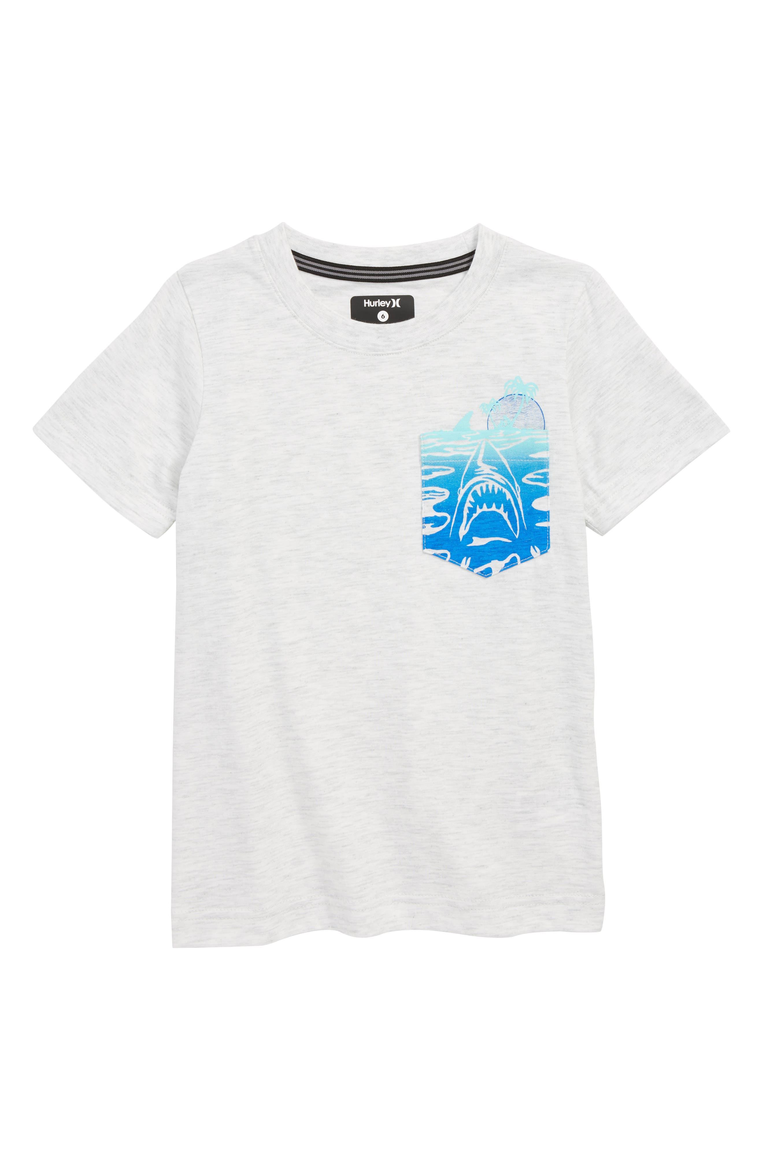 'Pocket Play' Screenprint T-Shirt,                             Main thumbnail 1, color,                             BIRCH HEATHER