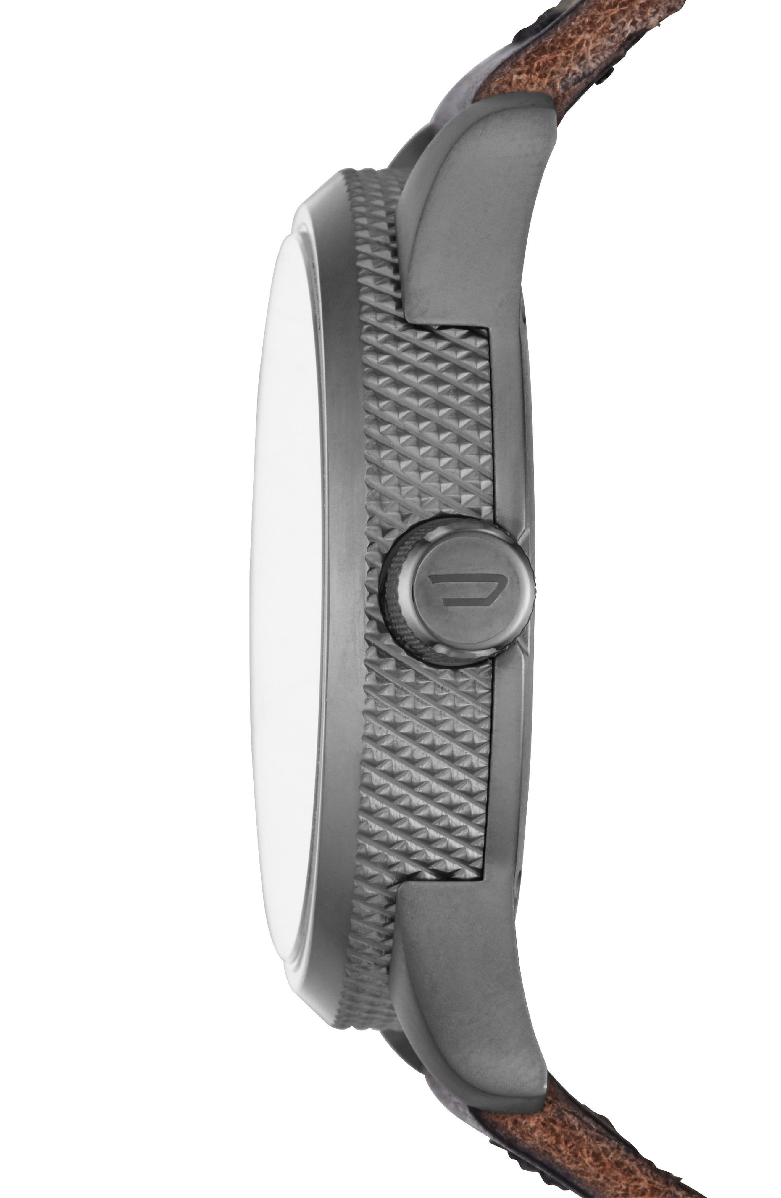 Rasp Leather Strap Watch, 46mm x 53mm,                             Alternate thumbnail 2, color,                             020