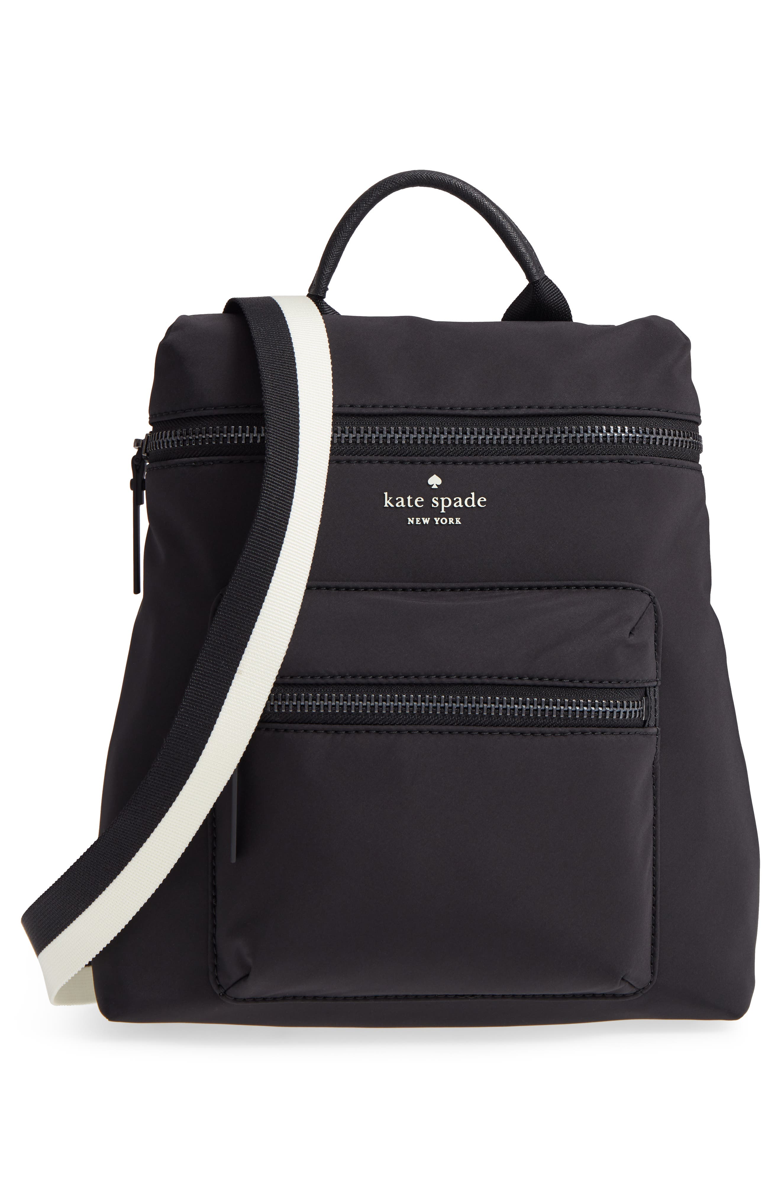 that's the spirit mini nylon convertible backpack,                             Alternate thumbnail 3, color,                             BLACK