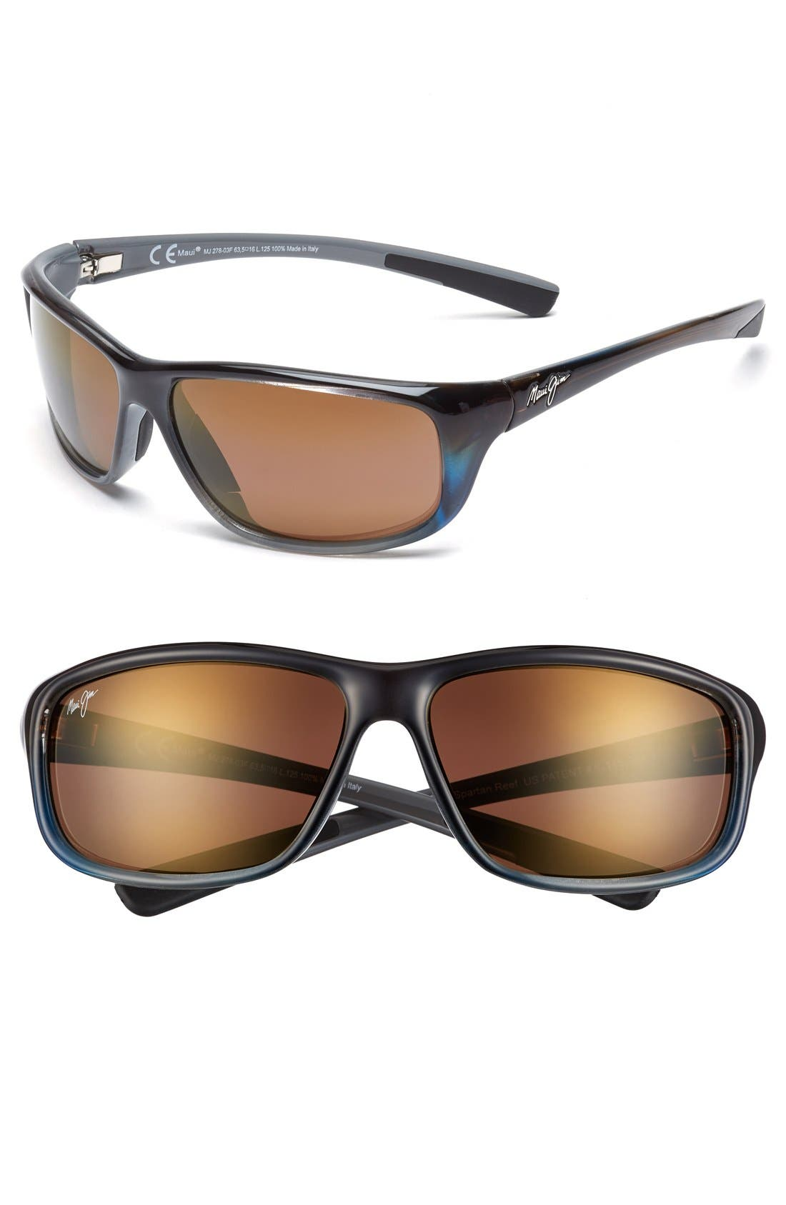 'Spartan Reef - PolarizedPlus<sup>®</sup>2' 64mm Sunglasses,                         Main,                         color, MARLIN/ HCL BRONZE