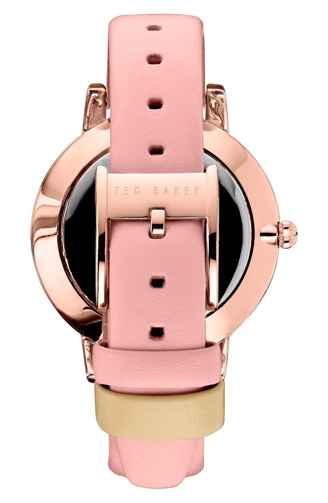 Leather Strap Watch, 40mm,                             Alternate thumbnail 6, color,