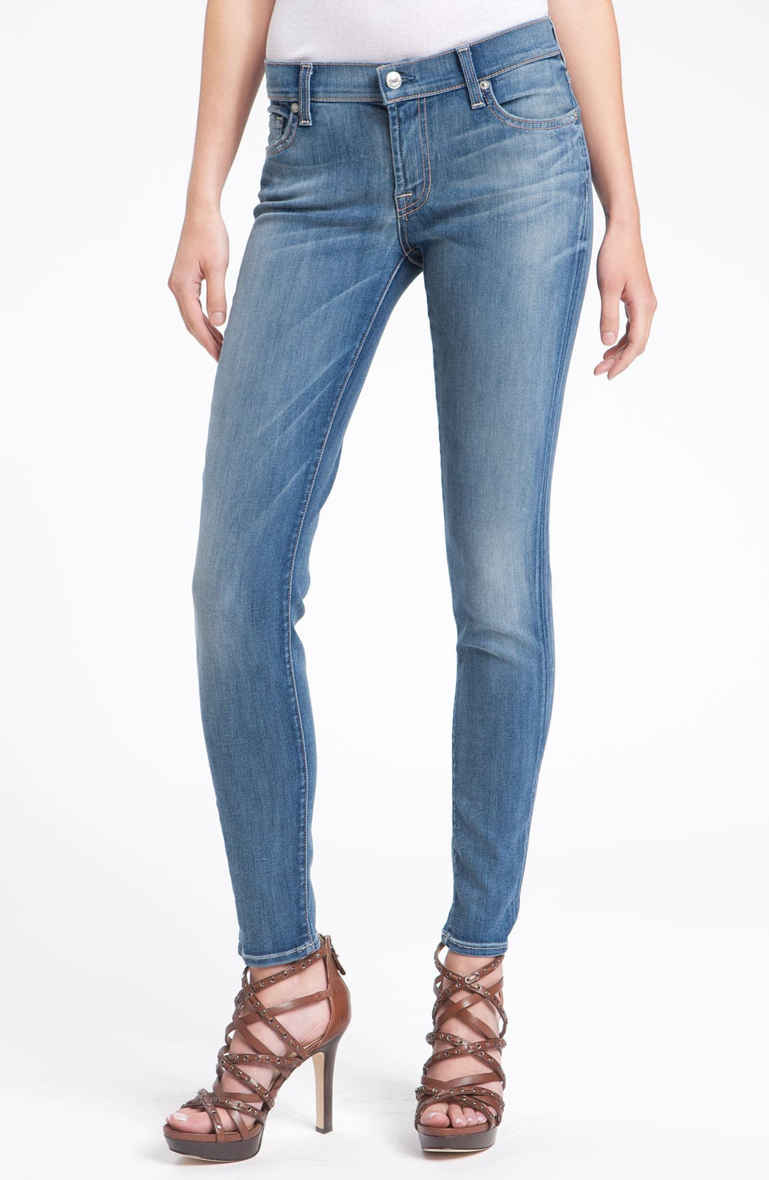 7 FOR ALL MANKIND<SUP>®</SUP>,                             'Gwenevere' Skinny Jeans,                             Alternate thumbnail 2, color,                             400