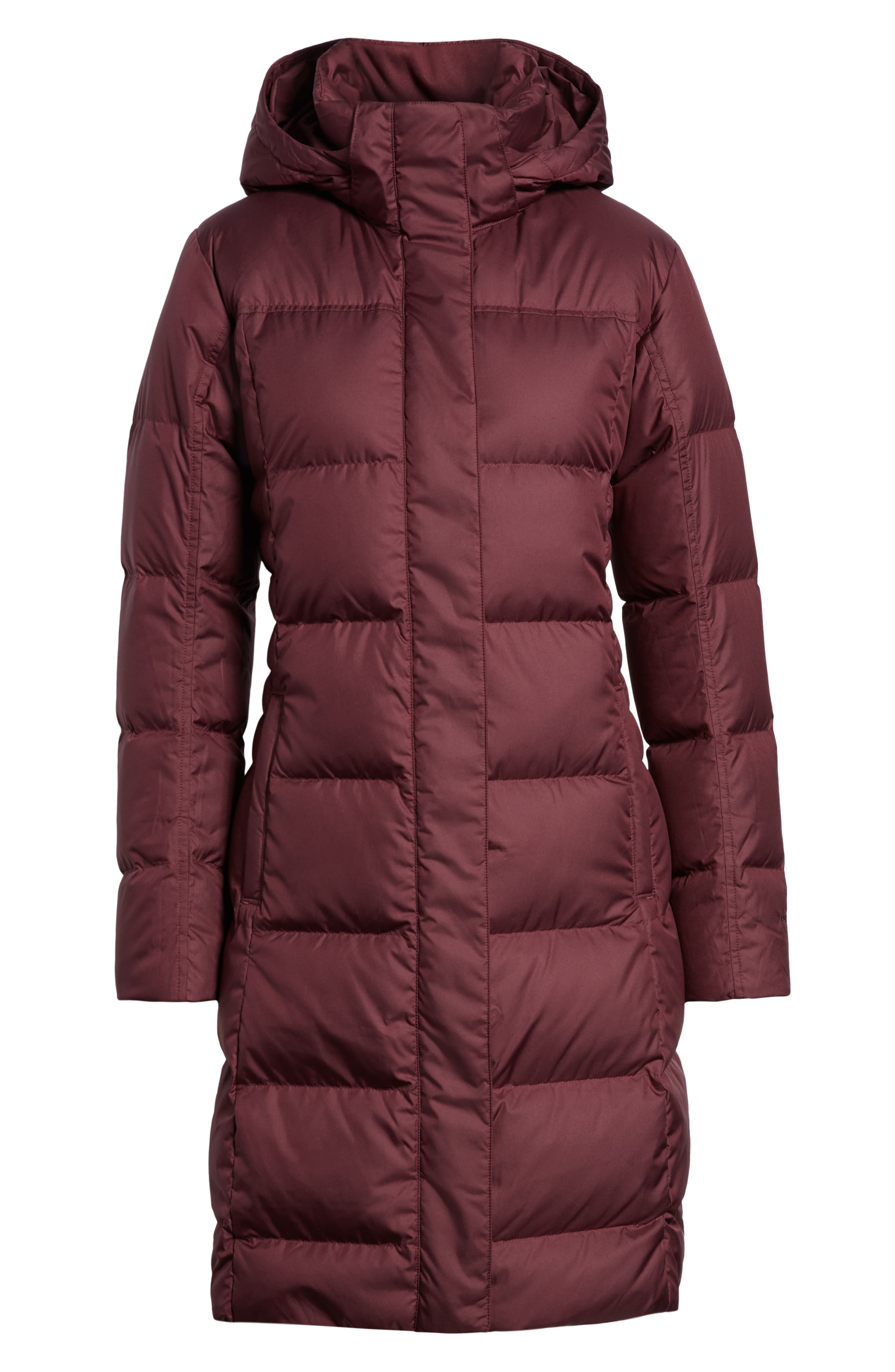 'Down with It' Water RepellentParka,                             Alternate thumbnail 6, color,                             DARK CURRANT