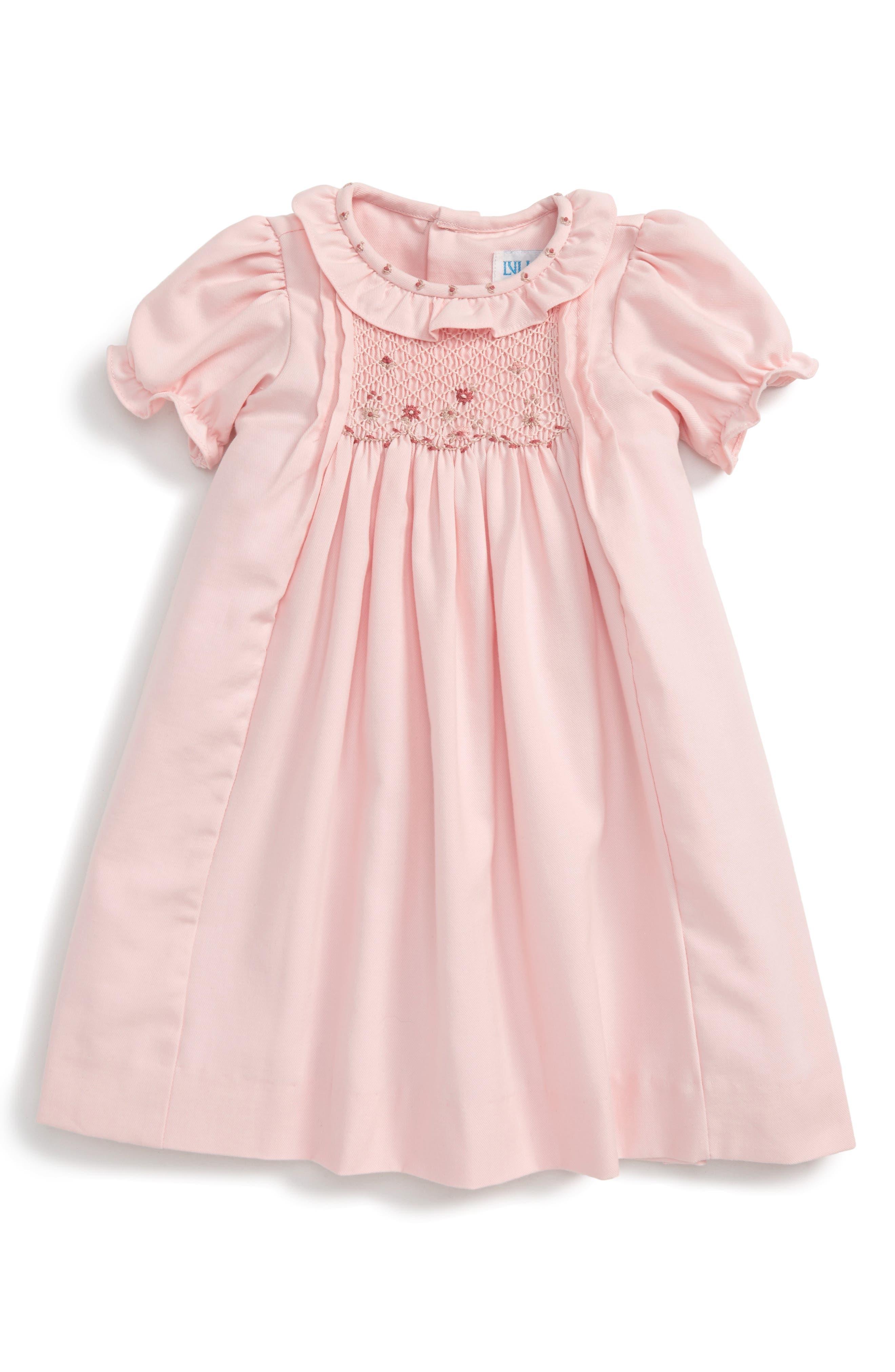 LULI & ME Viyella Smocked Dress, Main, color, 650