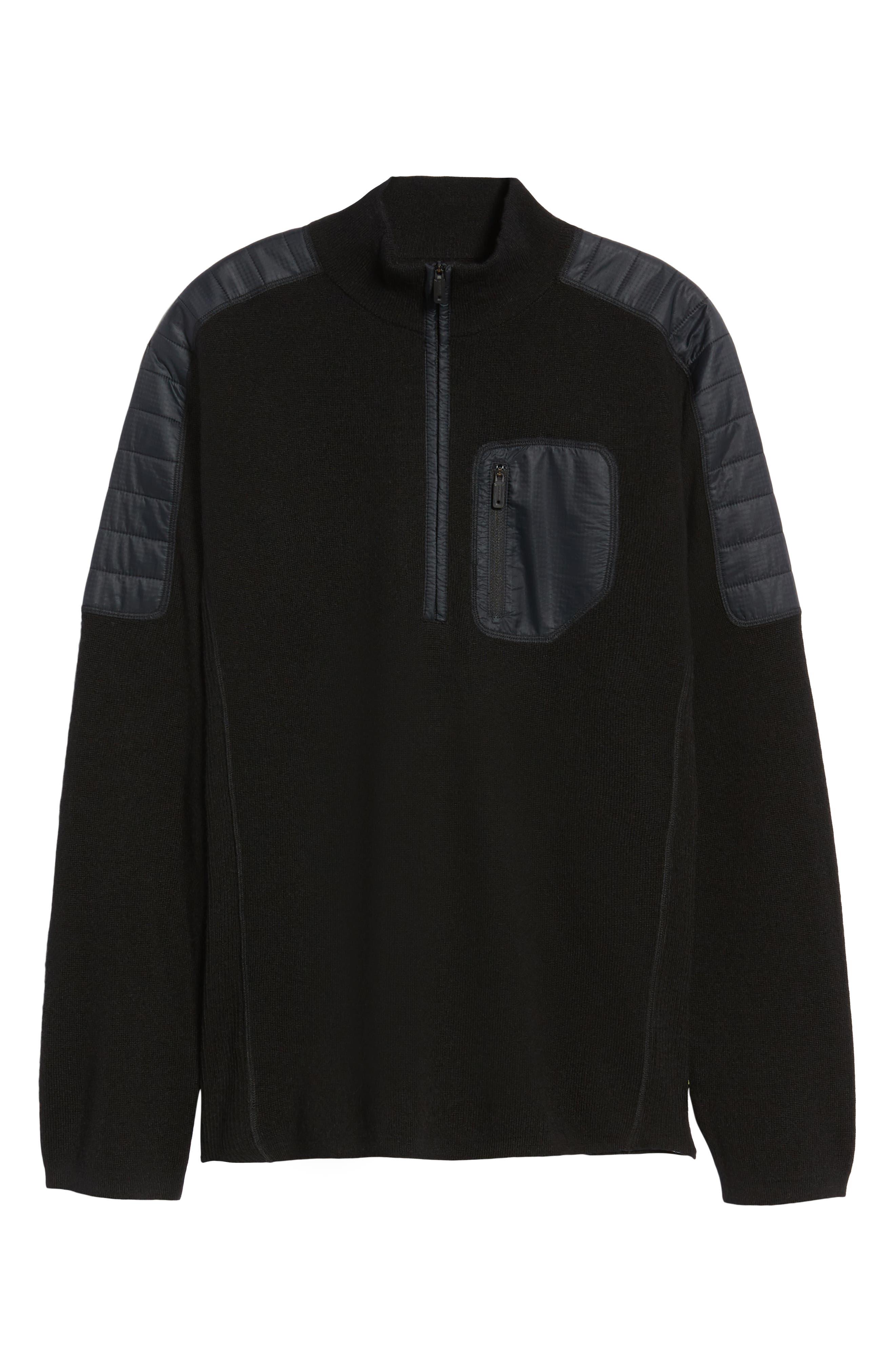 SMARTWOOL,                             Ski Ninja Pullover Sweater,                             Alternate thumbnail 6, color,                             BLACK