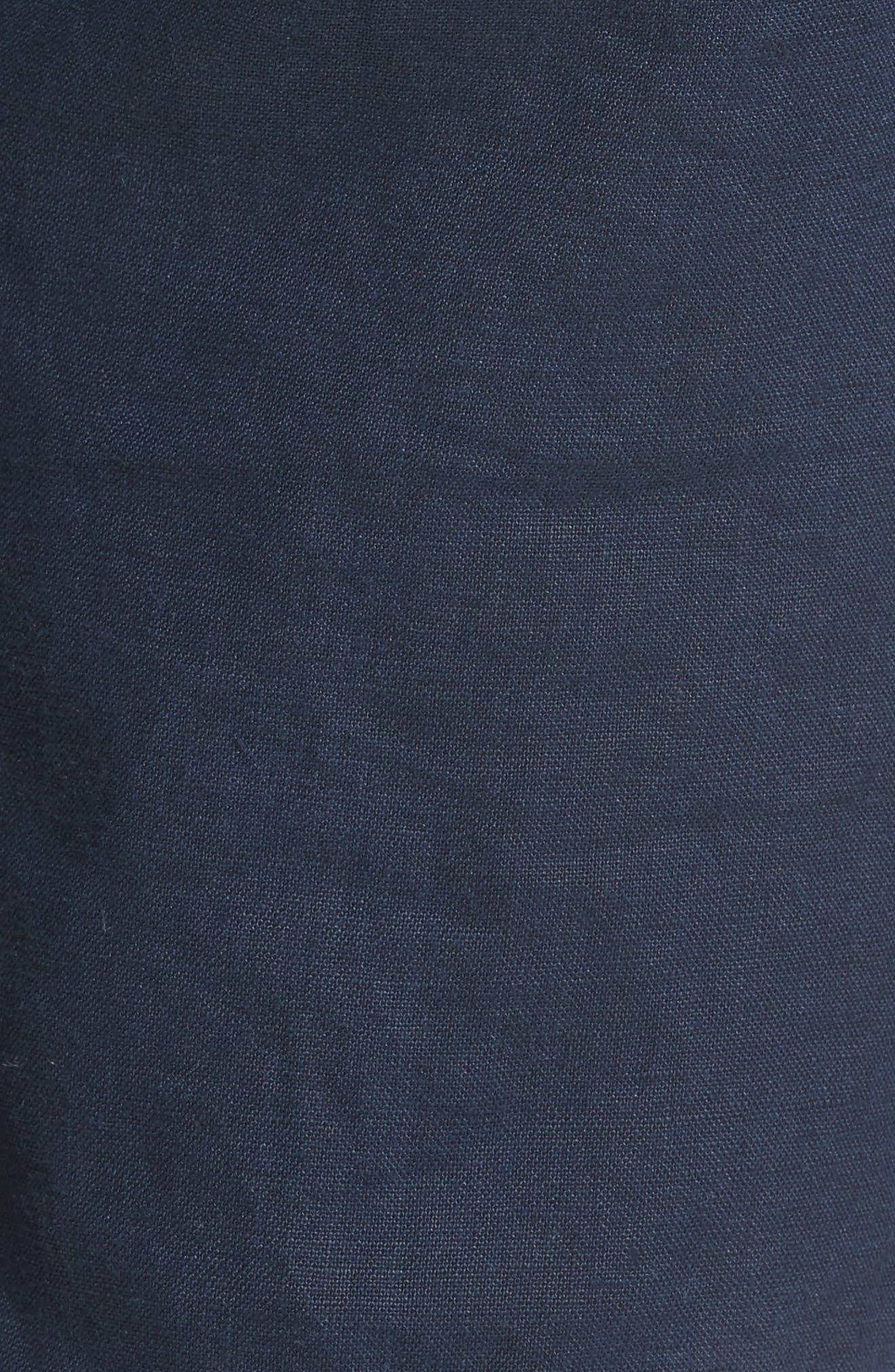 Max Linen Shorts,                             Alternate thumbnail 5, color,                             DEEP NAVY