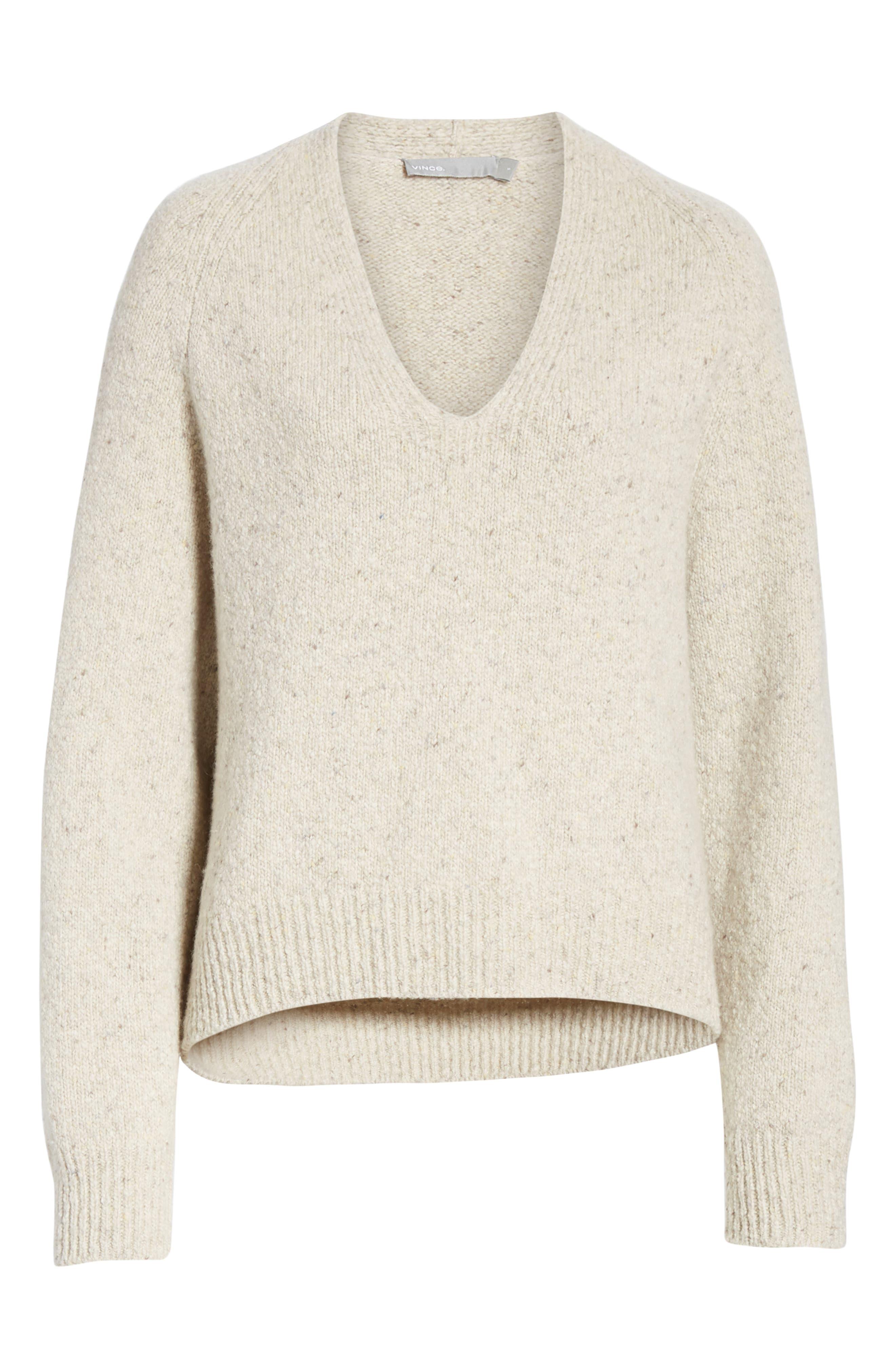 V-Neck Cashmere Sweater,                             Alternate thumbnail 6, color,                             902