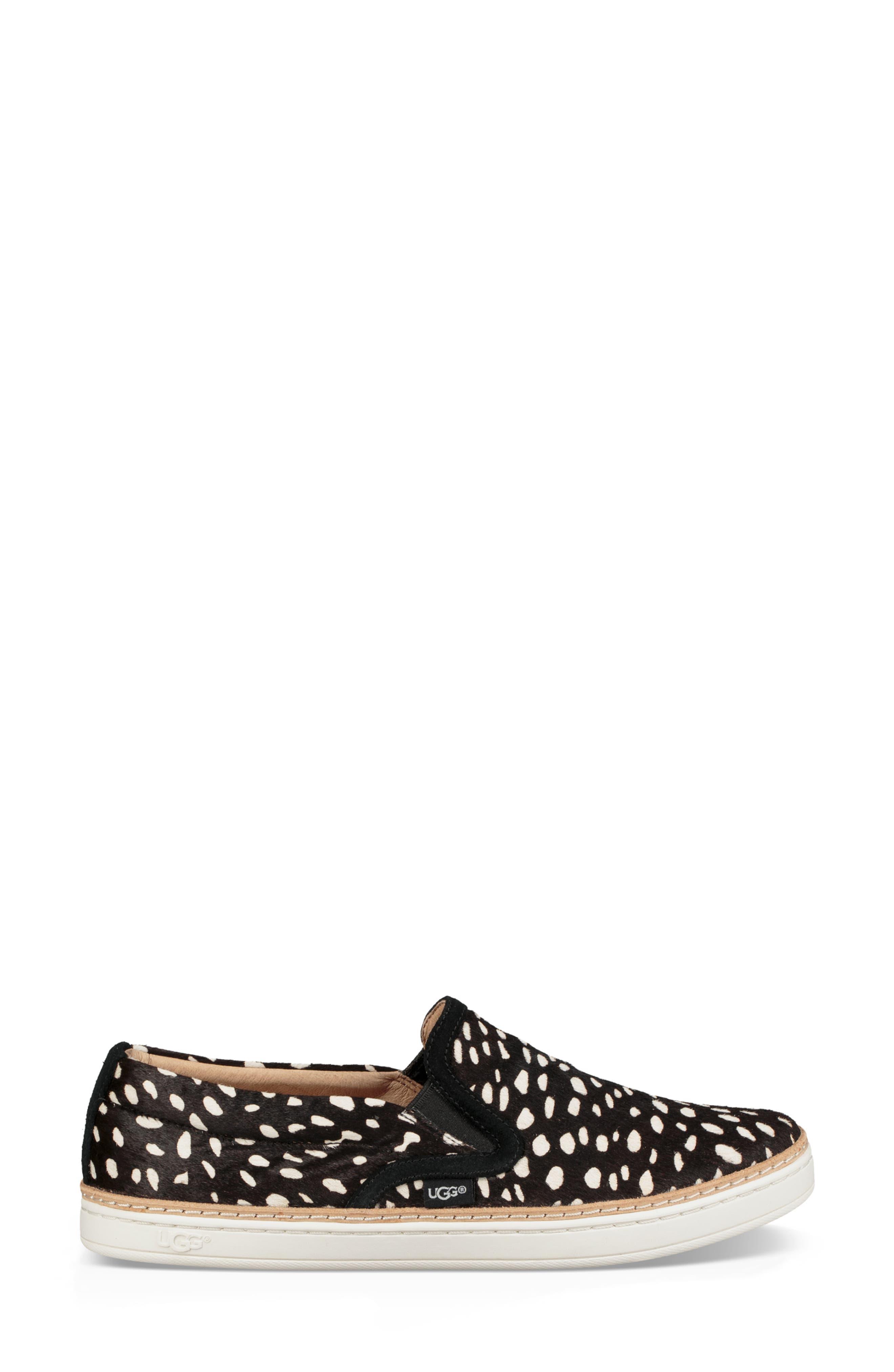 Soleda Genuine Calf Hair Slip-On Sneaker,                             Alternate thumbnail 3, color,                             BLACK