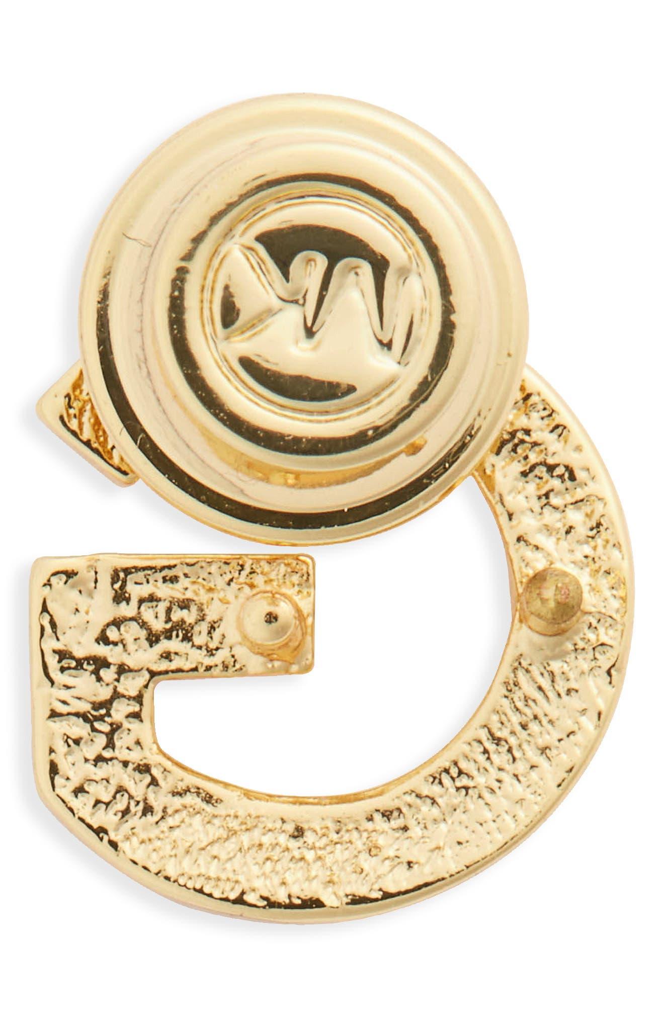 MICHAEL Michael Kors Pavé Letter Pin,                             Alternate thumbnail 28, color,