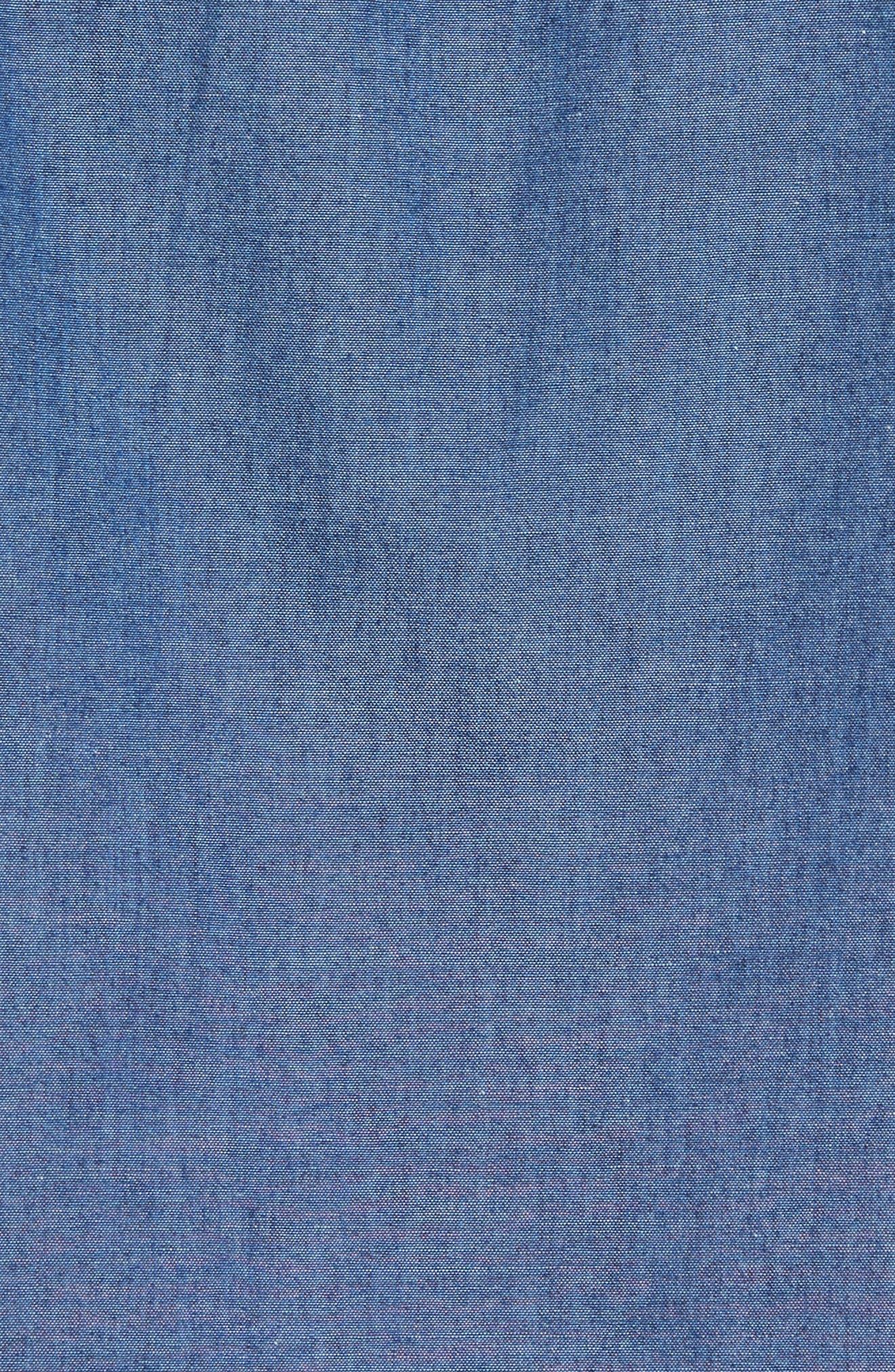 Tech Slim Fit Varsity Stripe Sport Shirt,                             Alternate thumbnail 5, color,                             433