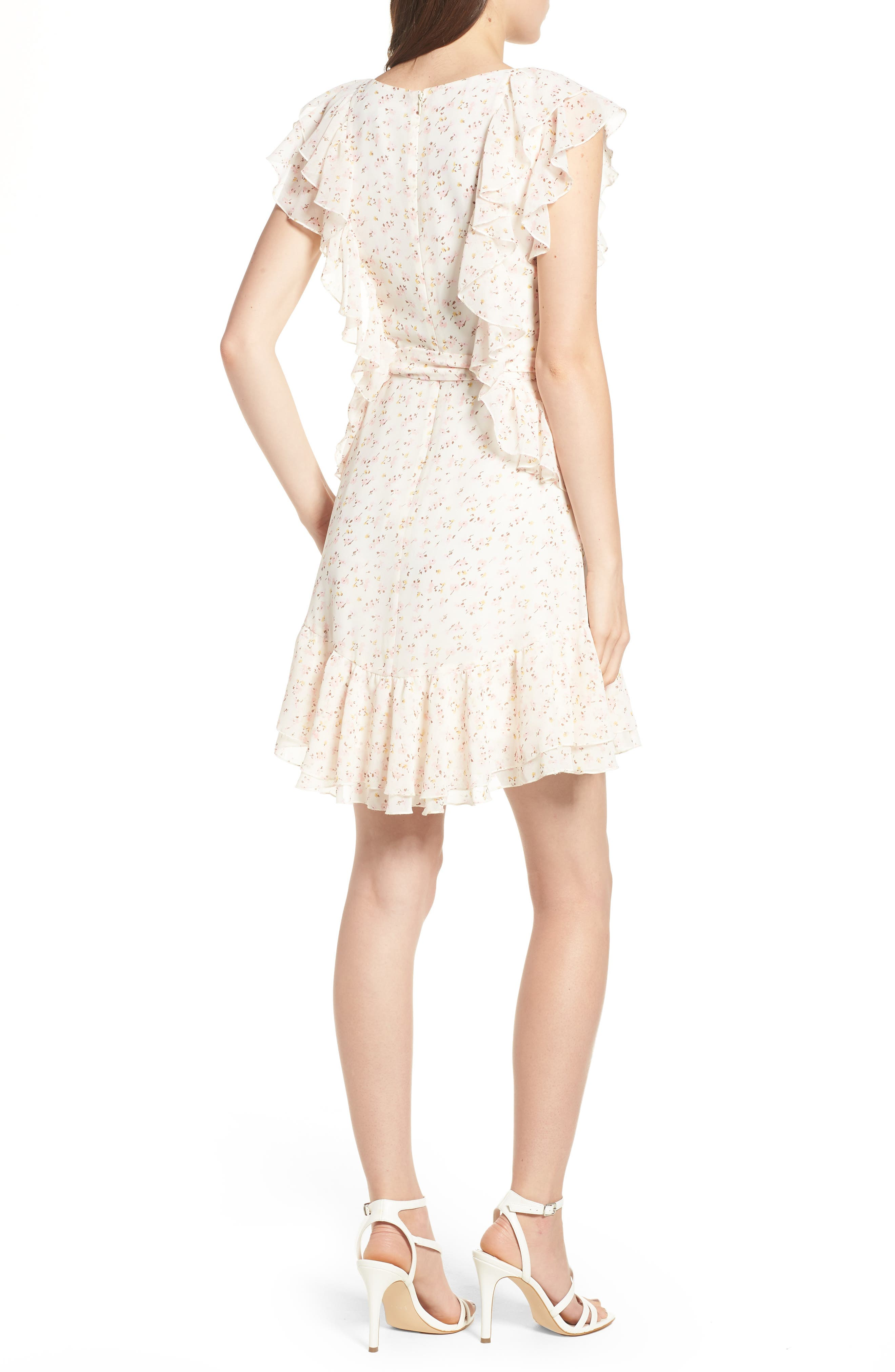WAYF,                             Terni Ruffle Minidress,                             Alternate thumbnail 2, color,                             900