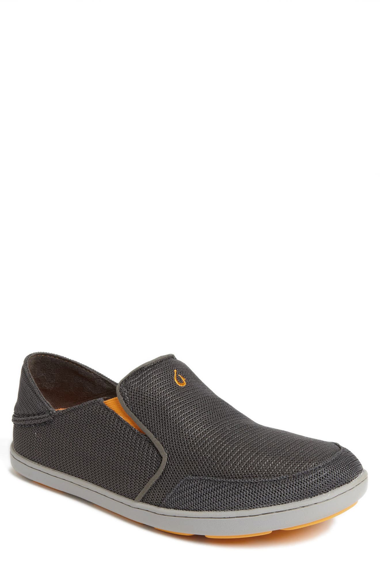 Nohea Mesh Slip-On,                         Main,                         color, DARK SHADOW/ DARK SHADOW