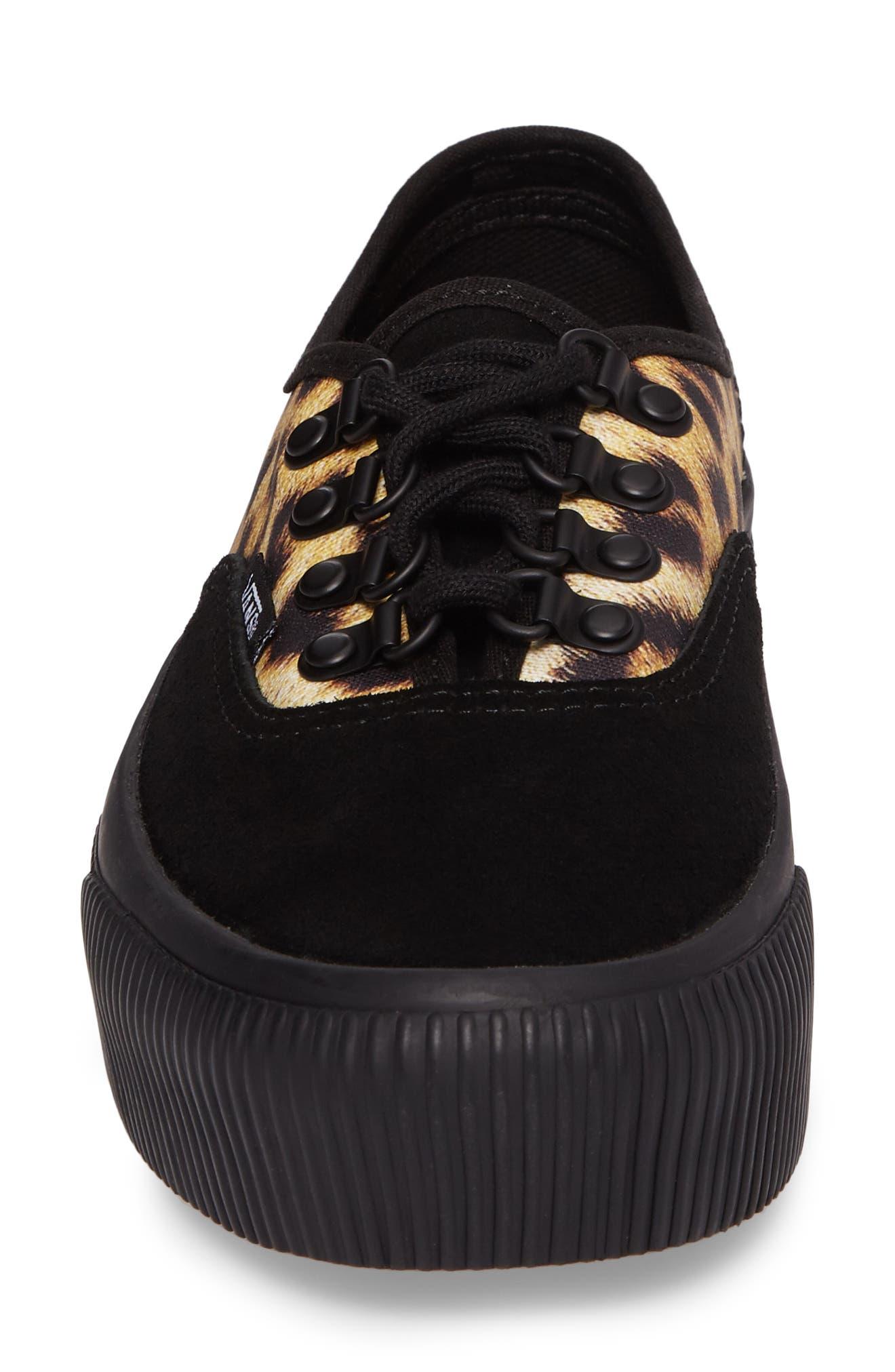 Authentic 2.0 Platform Sneaker,                             Alternate thumbnail 4, color,                             001