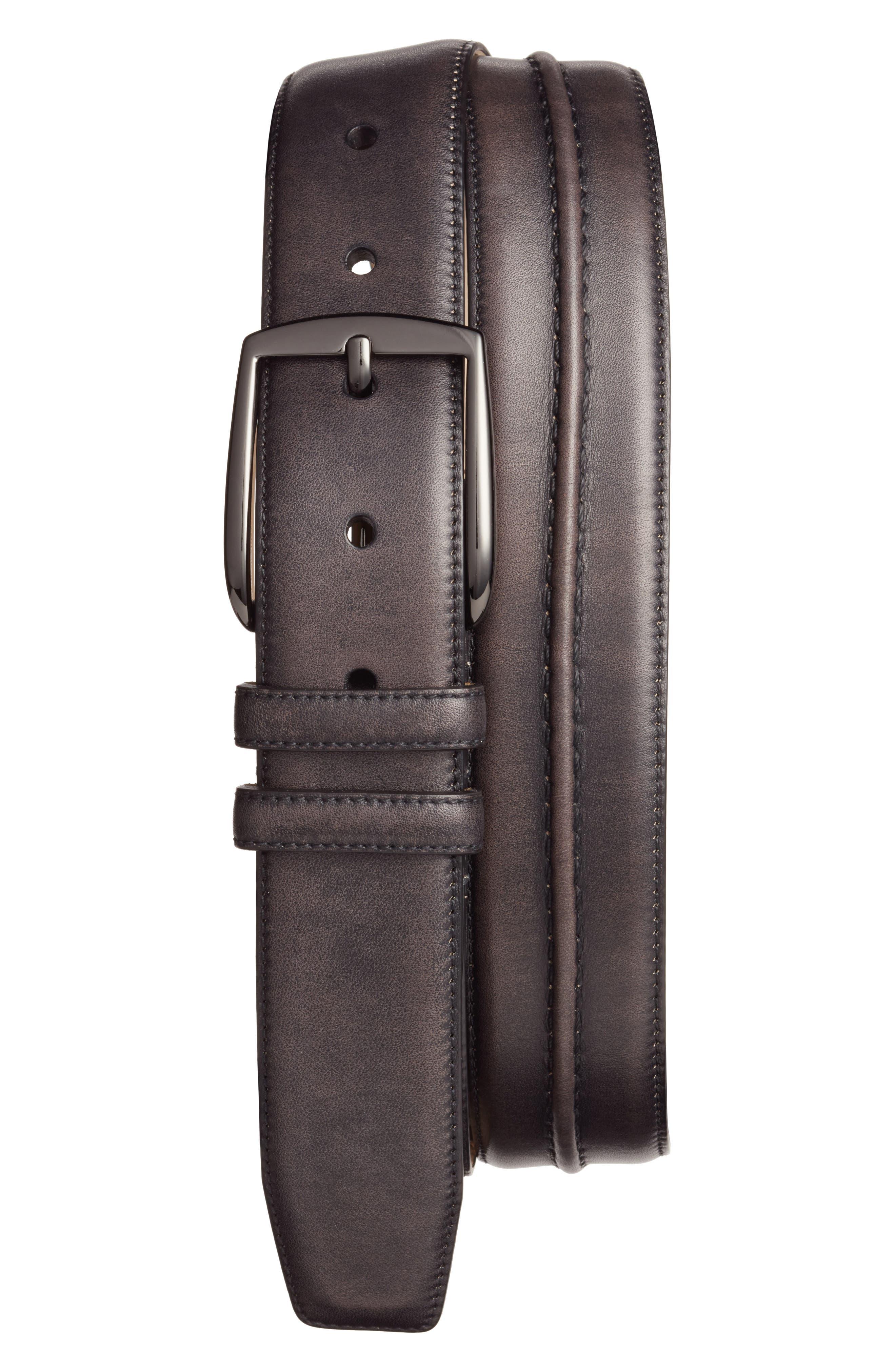 Naxos Leather Belt,                             Main thumbnail 1, color,                             008