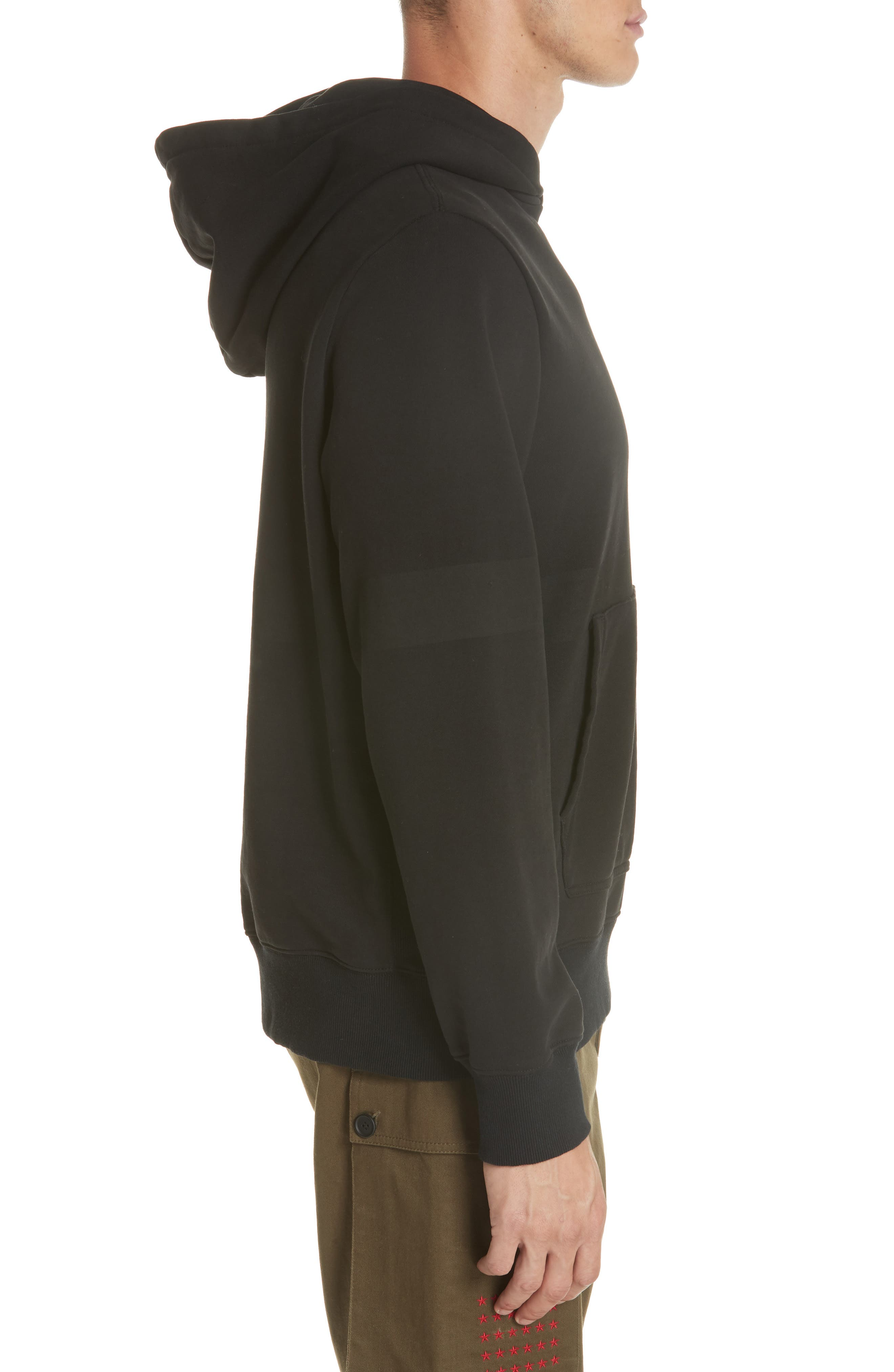 Star Patch Hoodie,                             Alternate thumbnail 3, color,                             001