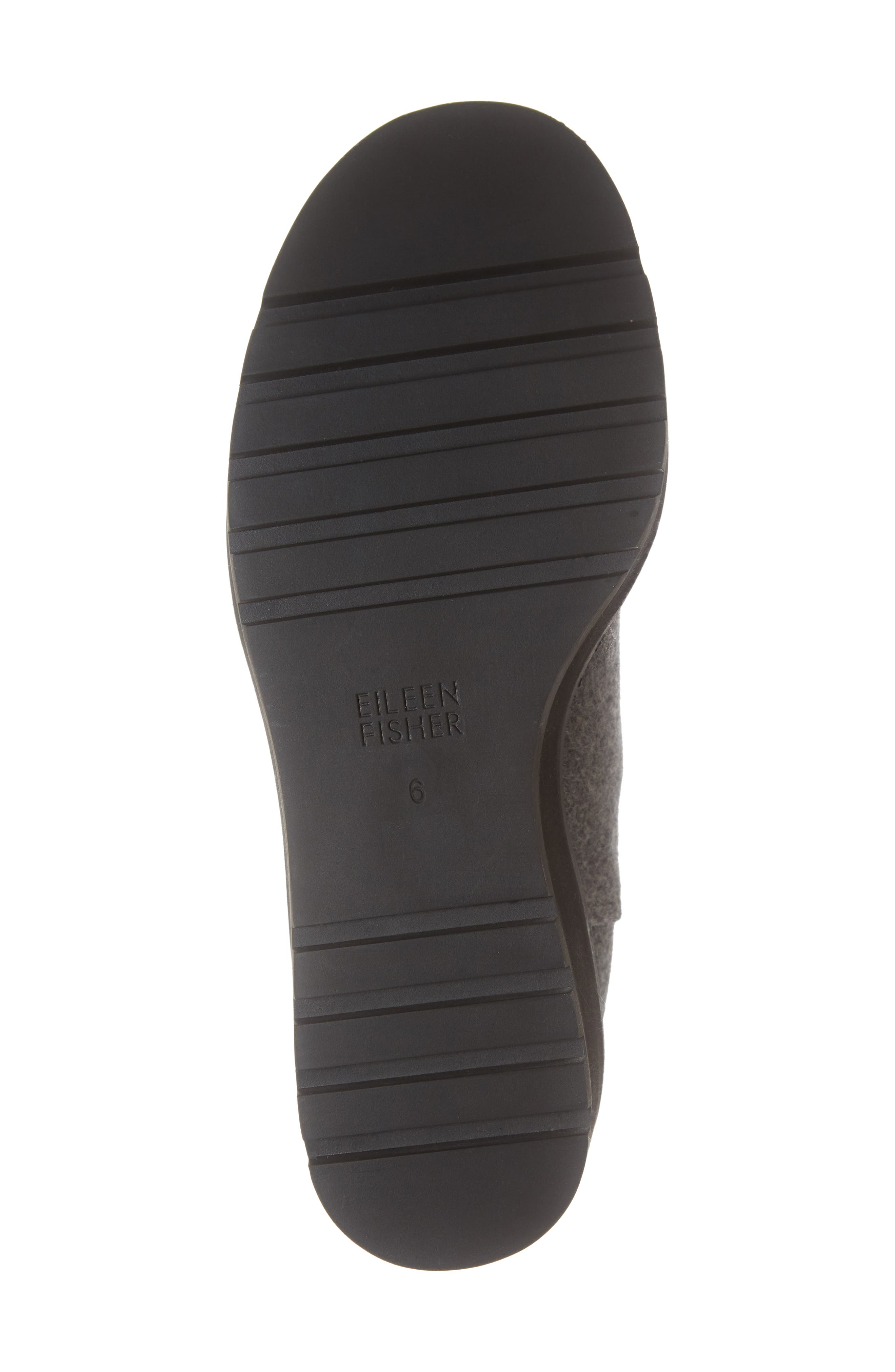 Wedge Chelsea Bootie,                             Alternate thumbnail 6, color,                             CHARCOAL FABRIC
