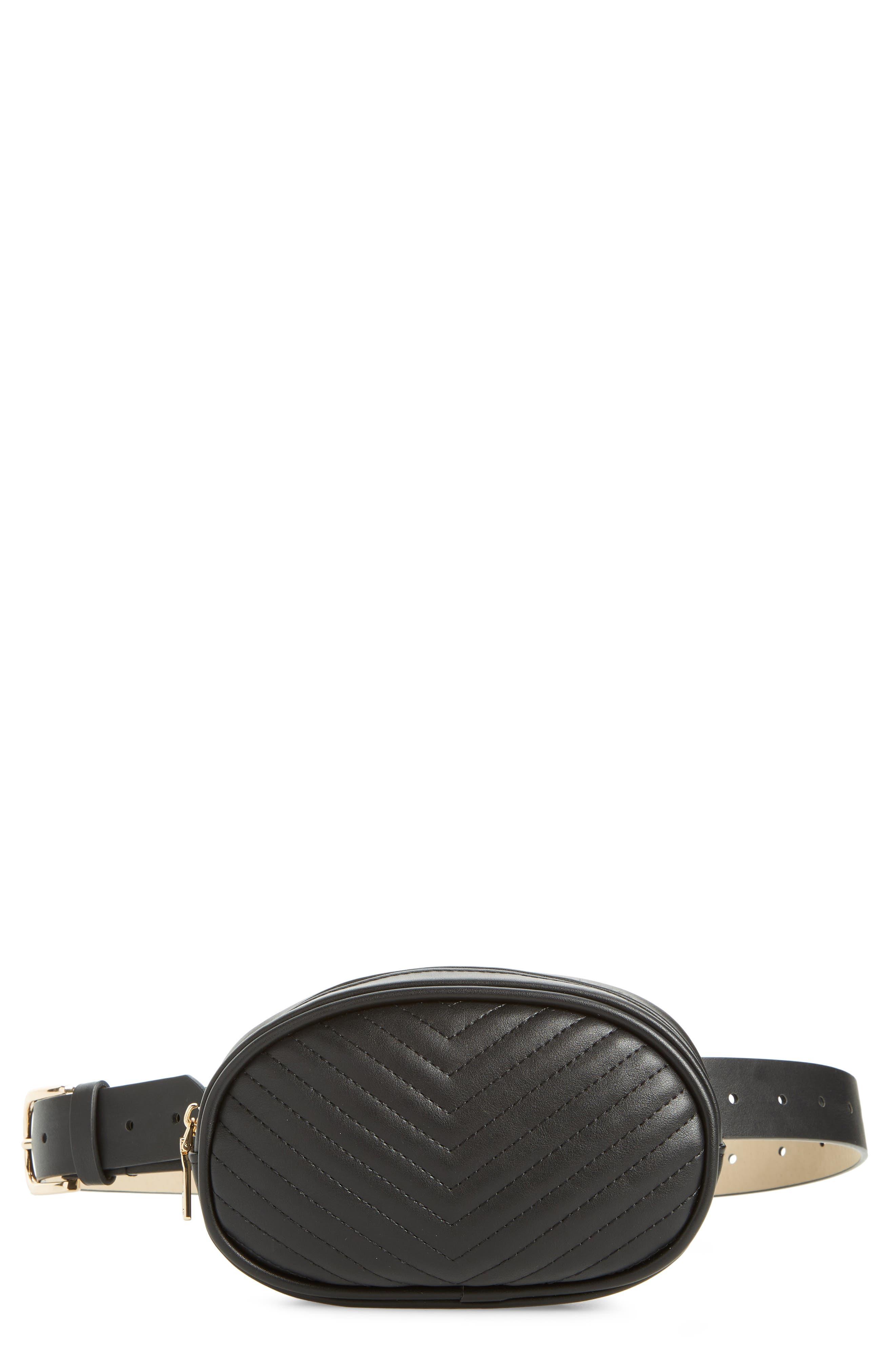 Quilted Belt Bag,                         Main,                         color, 002