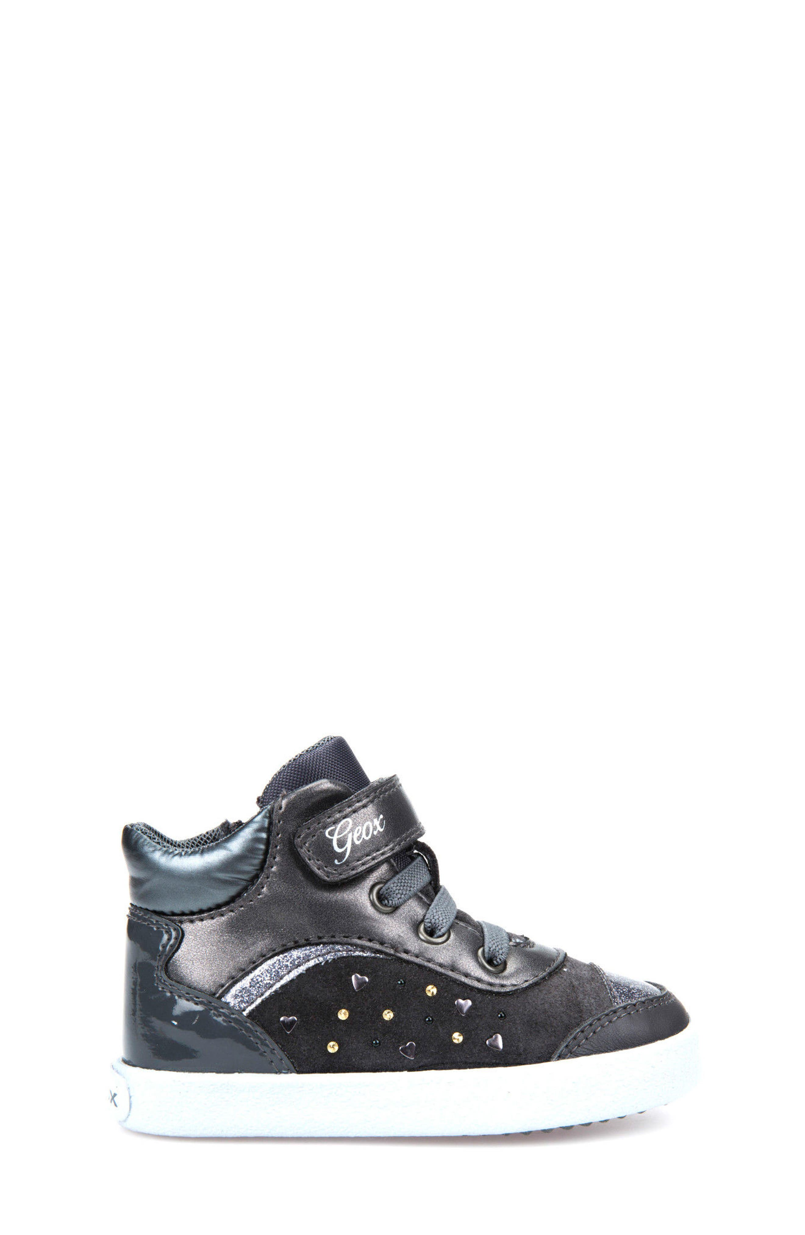 Kiwi Girl Studded High Top Sneaker,                             Alternate thumbnail 5, color,