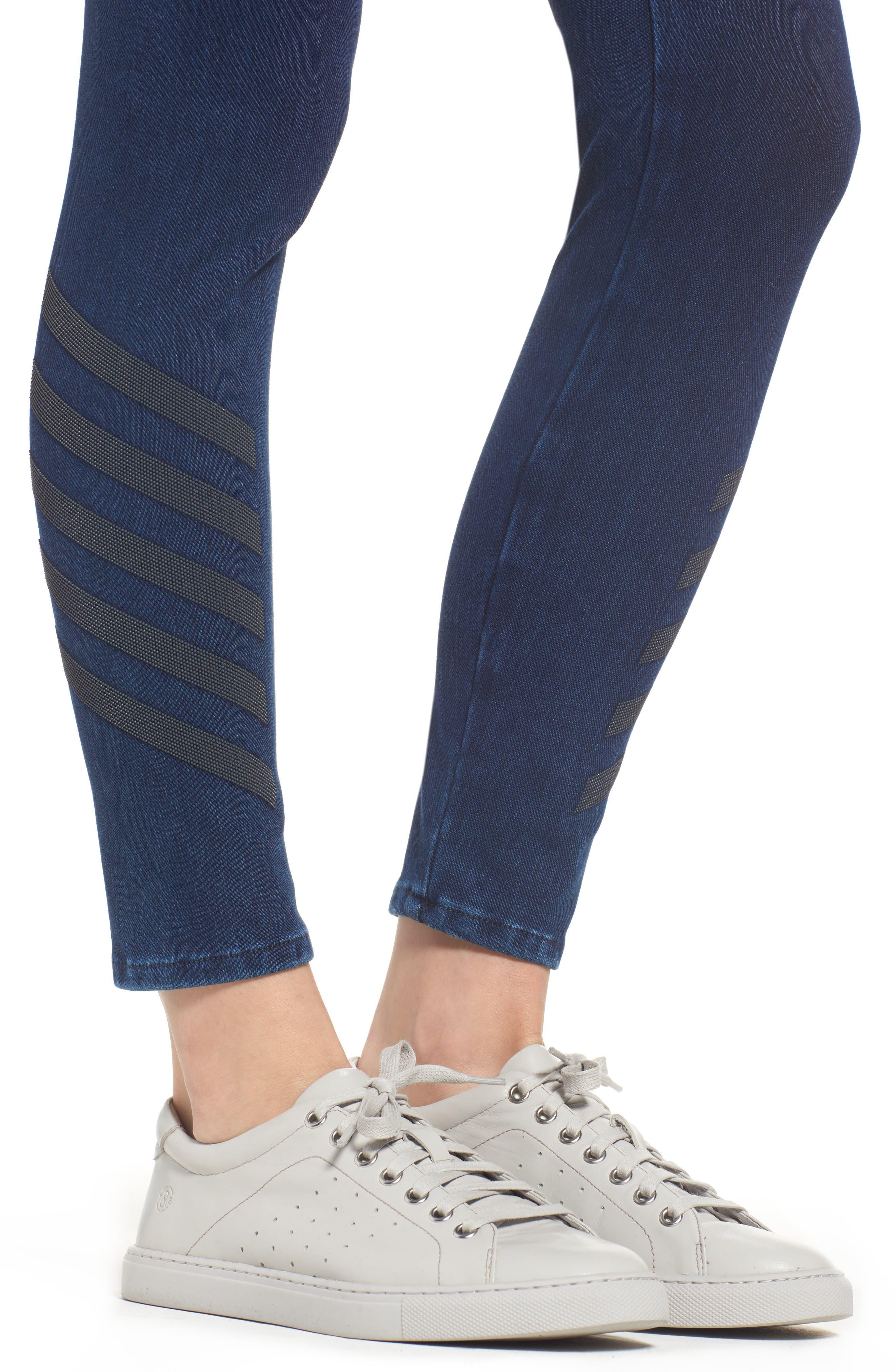Joie Embellished High Waist Skinny Jeans,                             Alternate thumbnail 4, color,