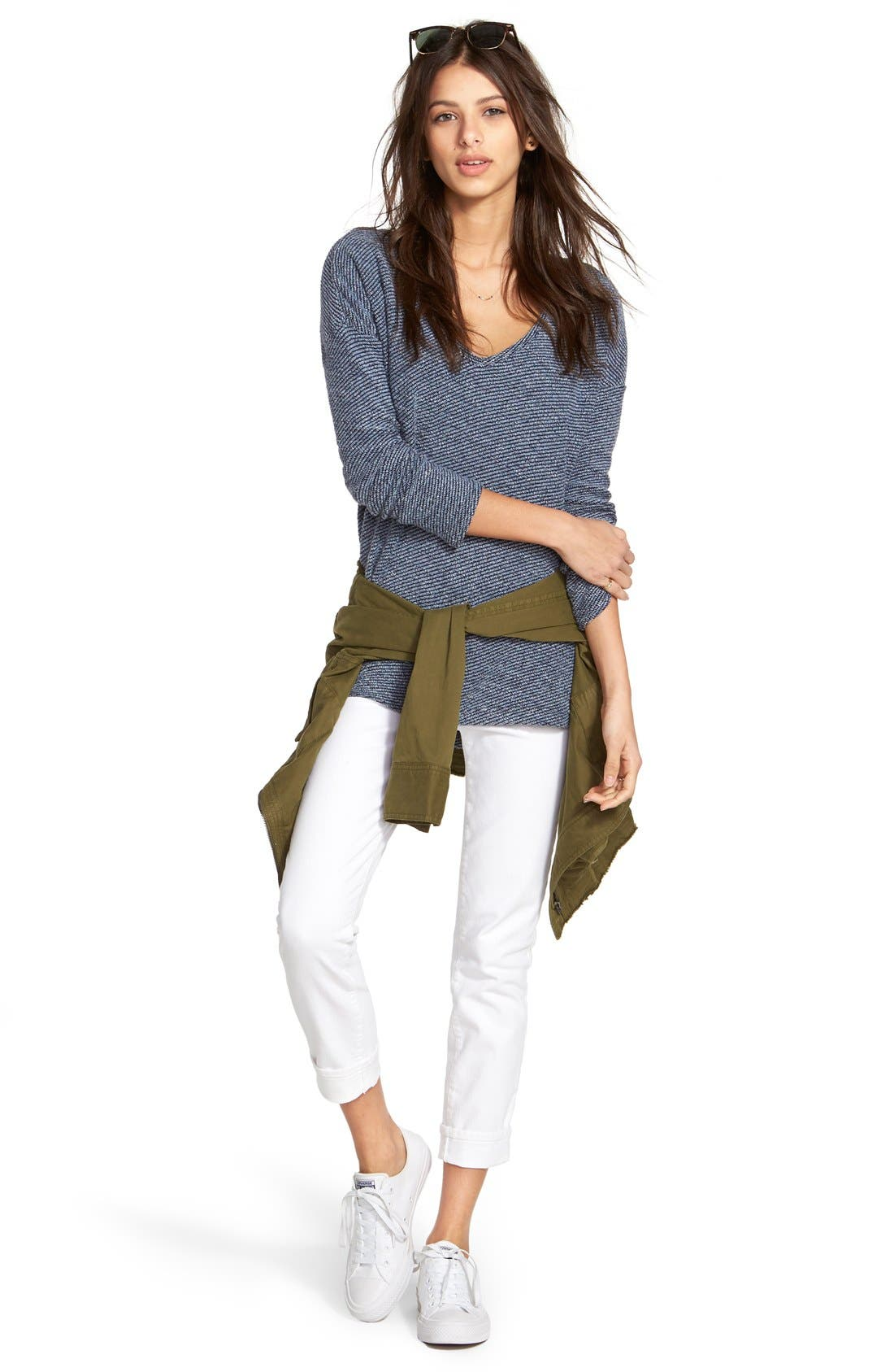 'Verdugo' Ankle Skinny Jeans,                             Alternate thumbnail 3, color,                             ULTRA WHITE