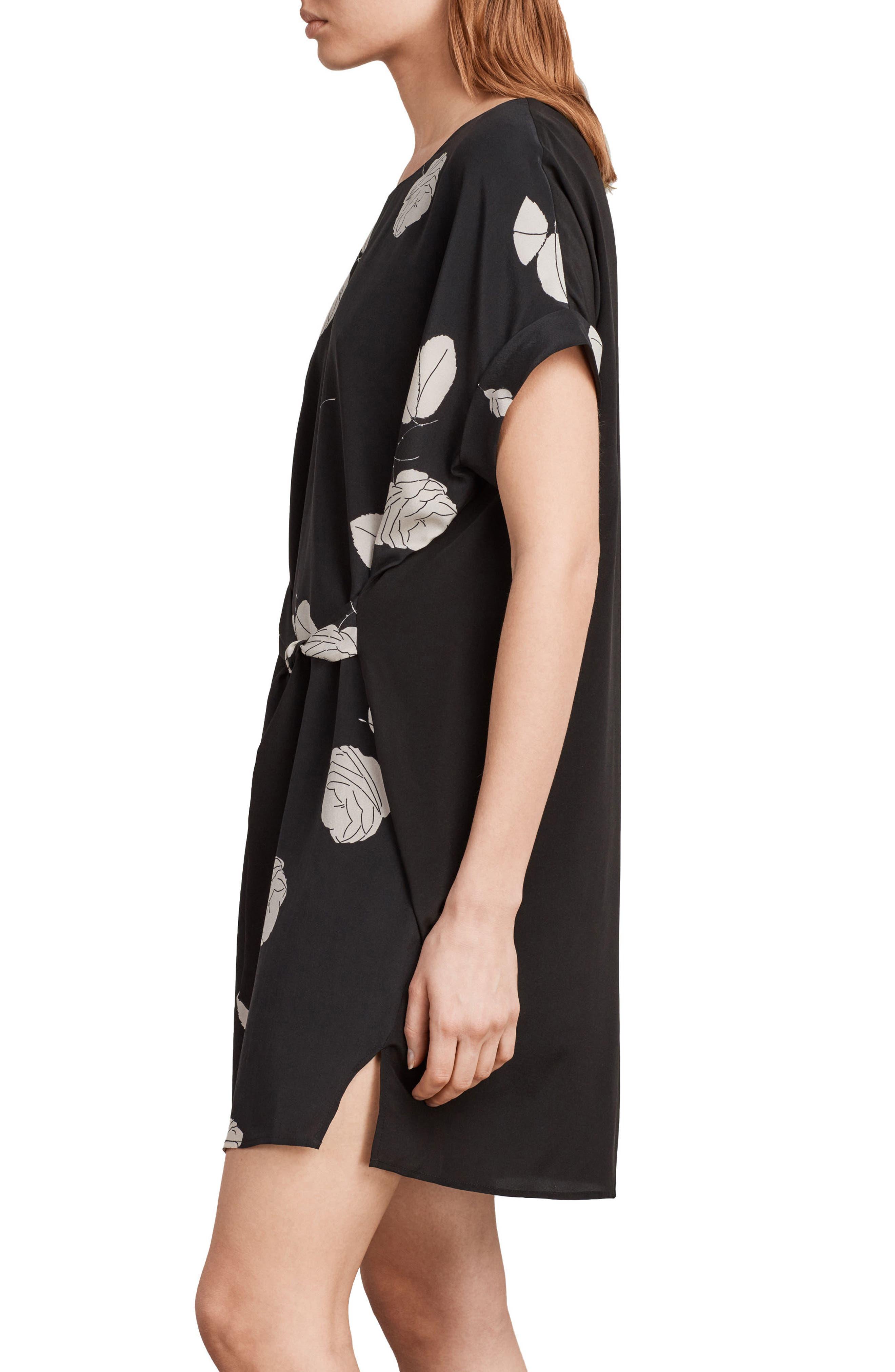 Sonny Rodin Silk Dress,                             Alternate thumbnail 3, color,                             001